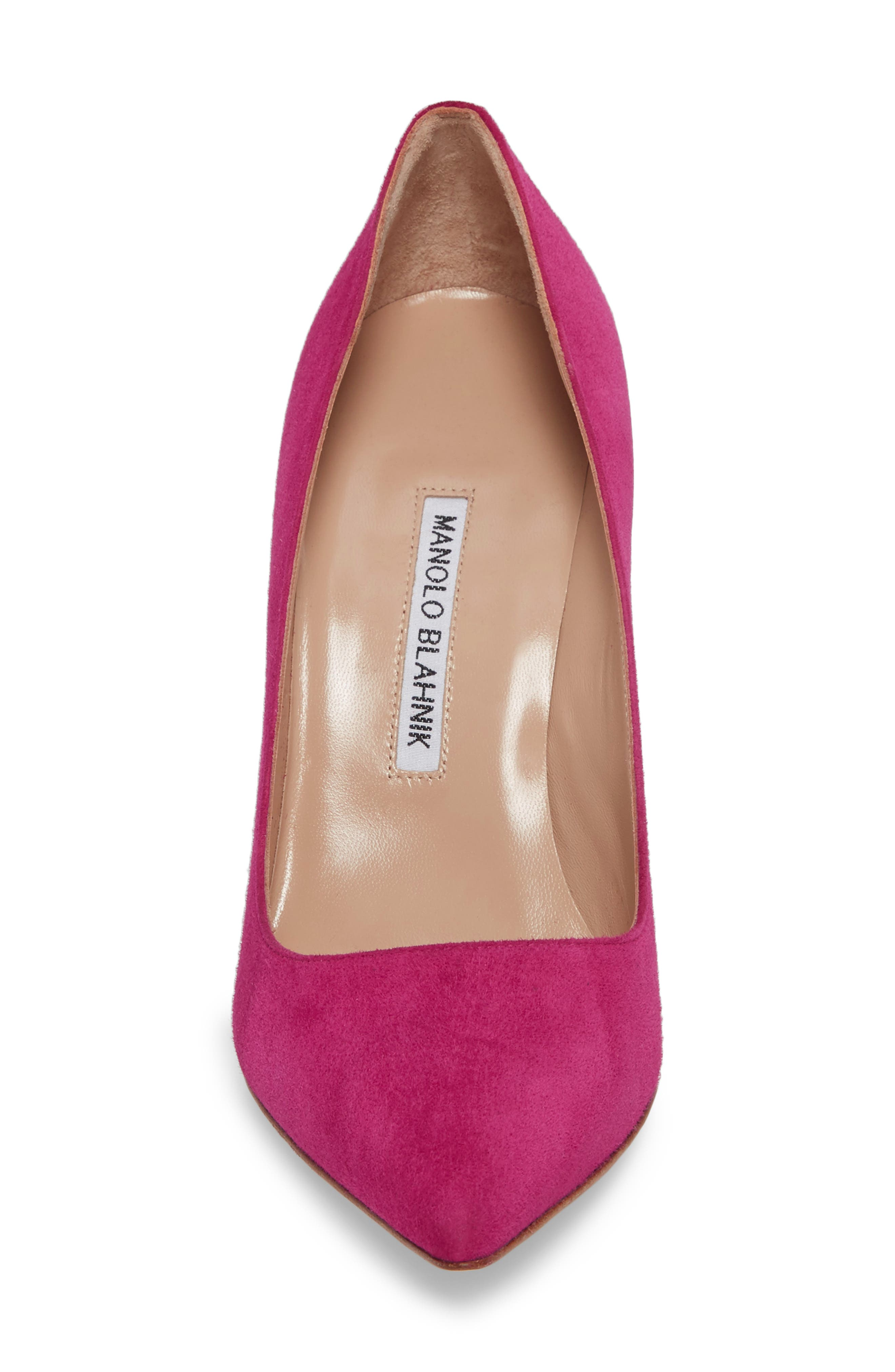 'BB' Pointy Toe Pump,                             Alternate thumbnail 4, color,                             Magenta