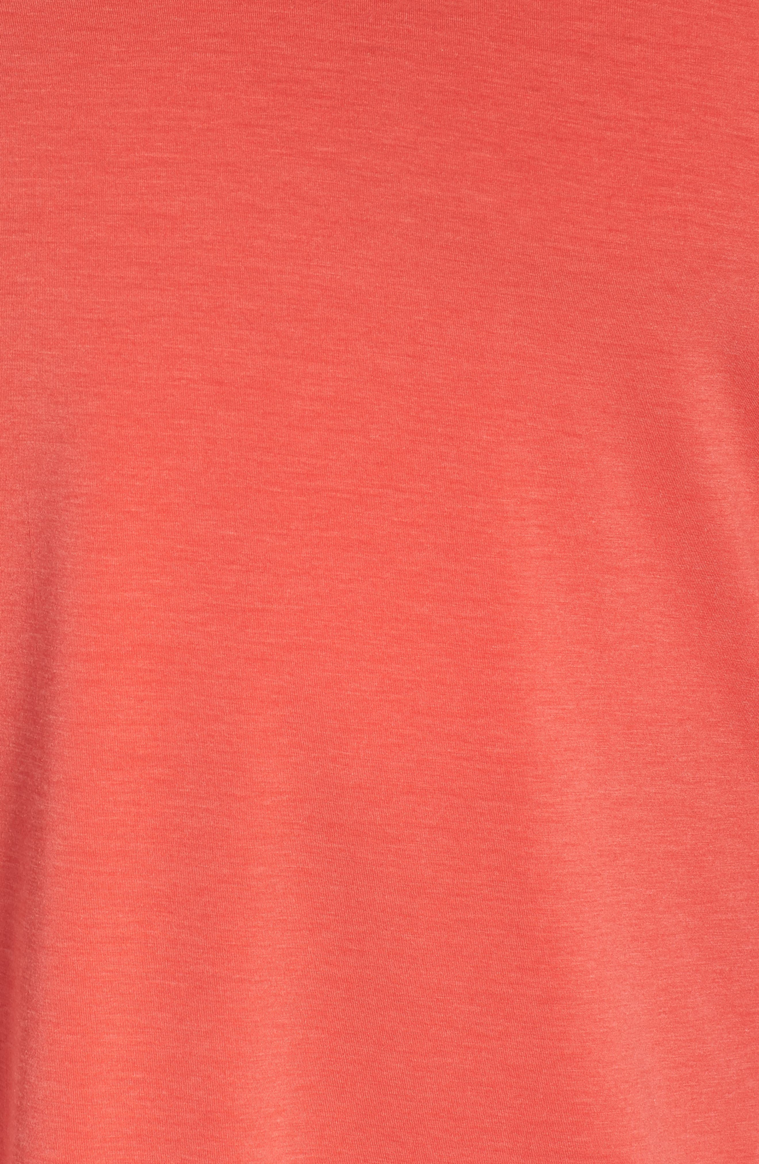 Ava Tee,                             Alternate thumbnail 3, color,                             Red Hibiscus Heather