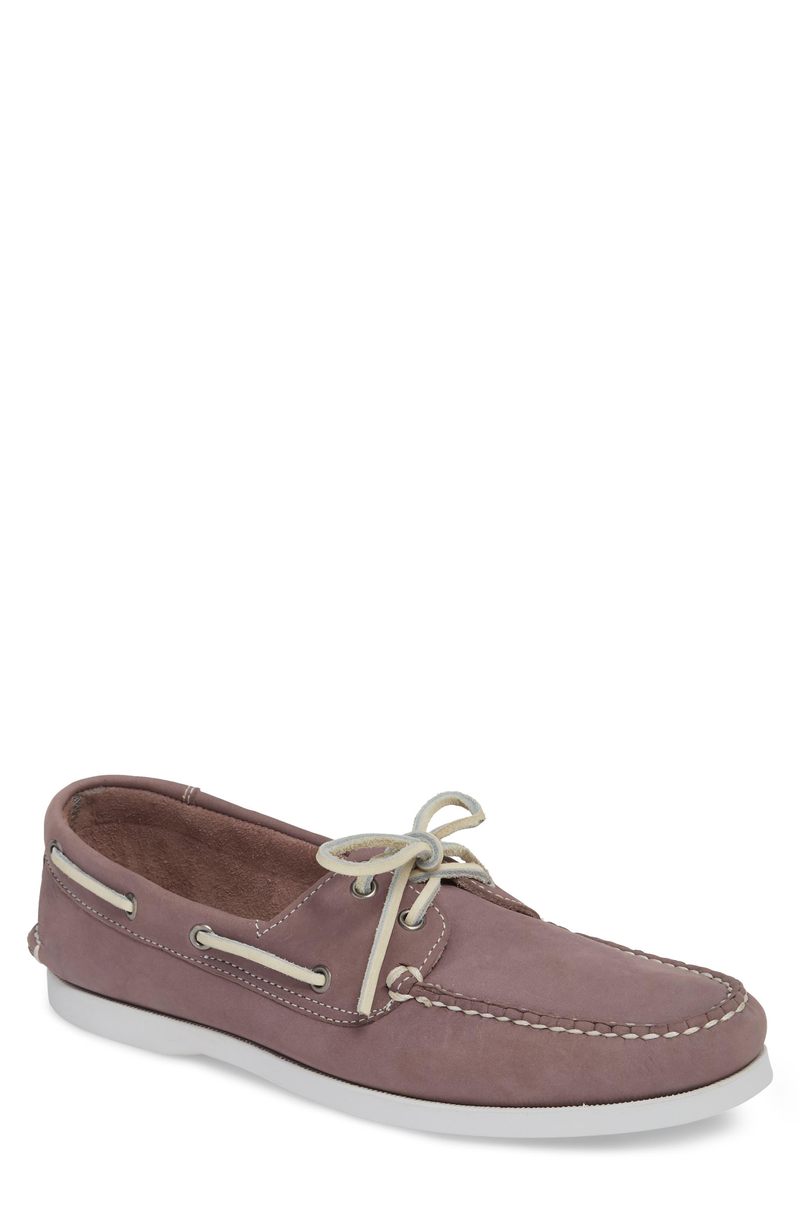 Pacific Boat Shoe,                             Main thumbnail 1, color,                             Lavender Nubuck