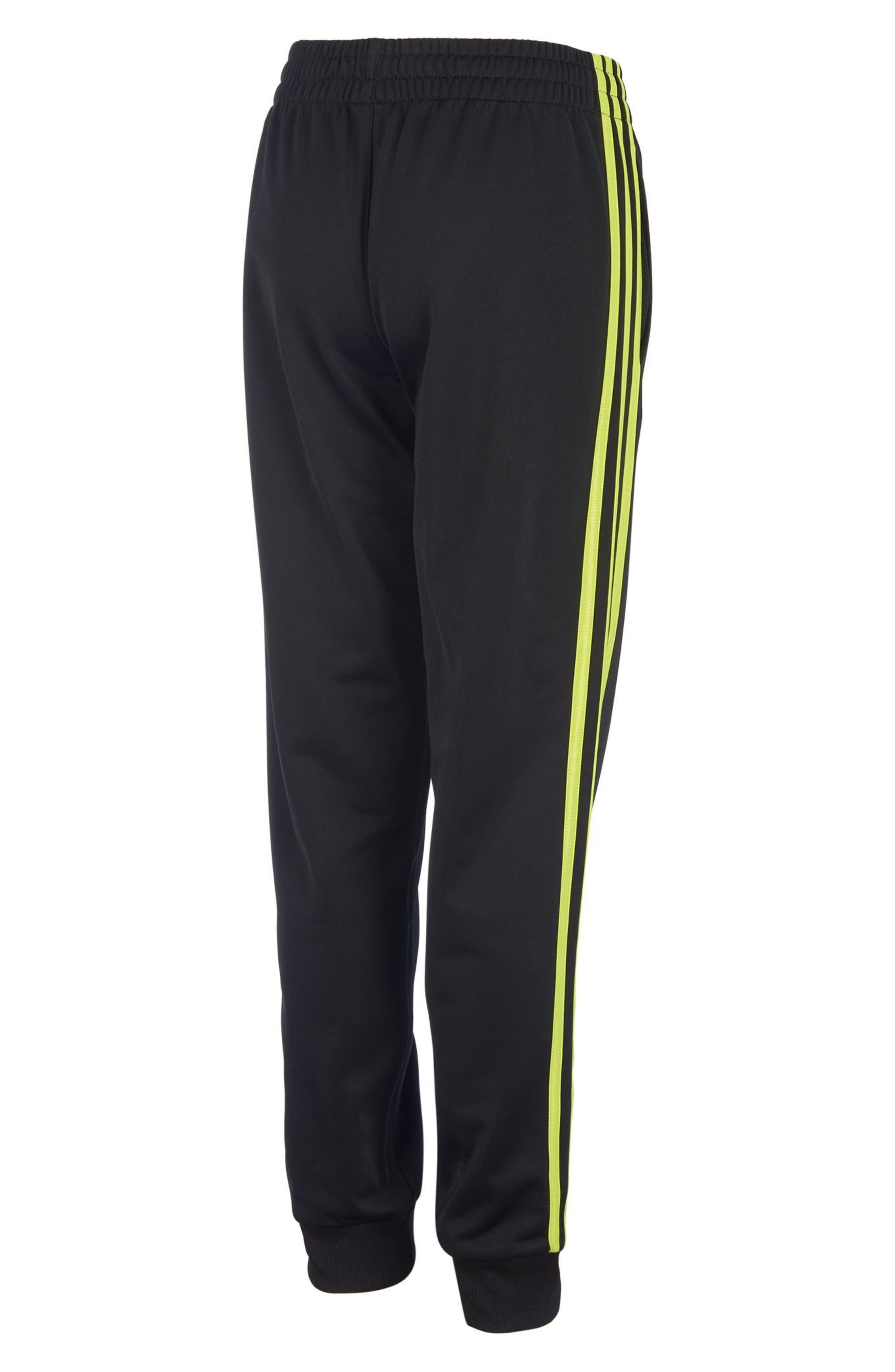 Iconic Jogger Pants,                             Alternate thumbnail 2, color,                             Black/ Yellow