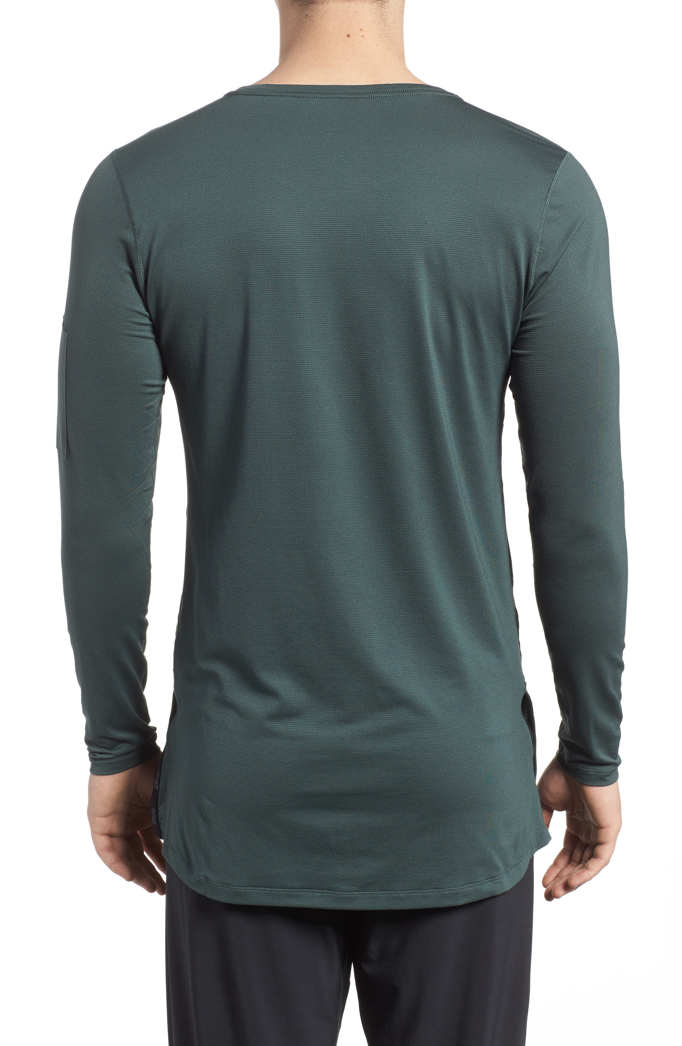 Pro Utility Fitted Training Top,                             Alternate thumbnail 2, color,                             Vintage Green/ Black