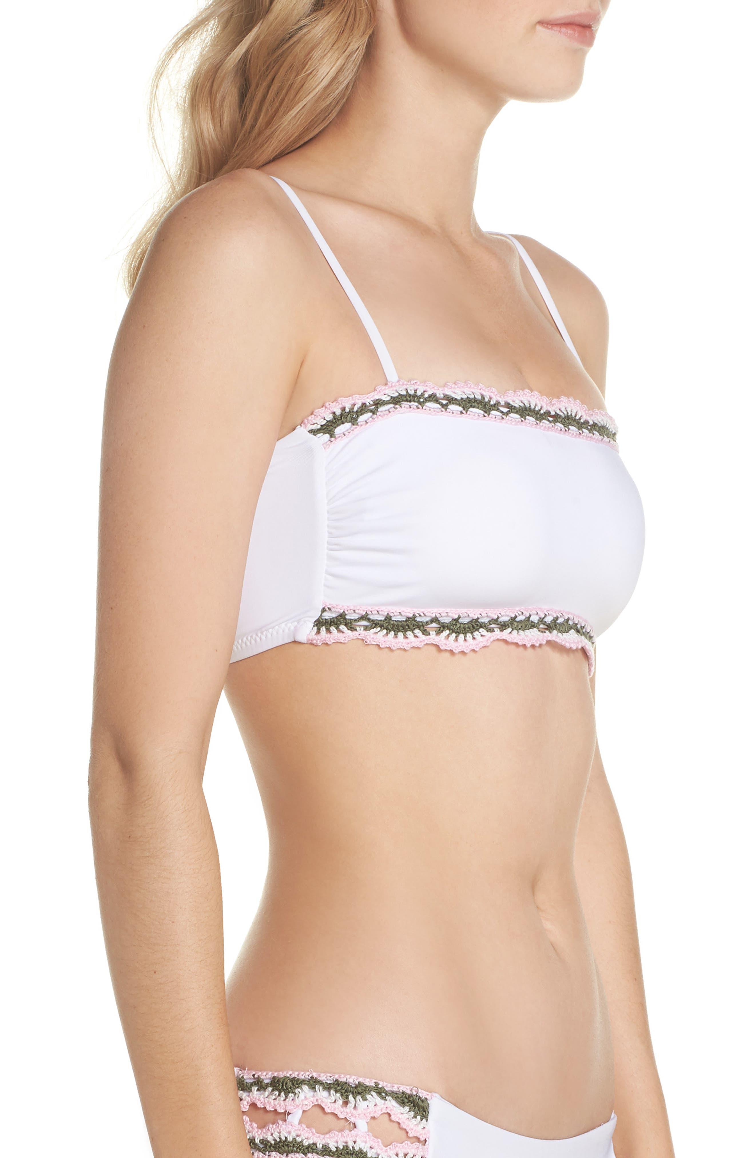 Medina Bandeau Bikini Top,                             Alternate thumbnail 3, color,                             White