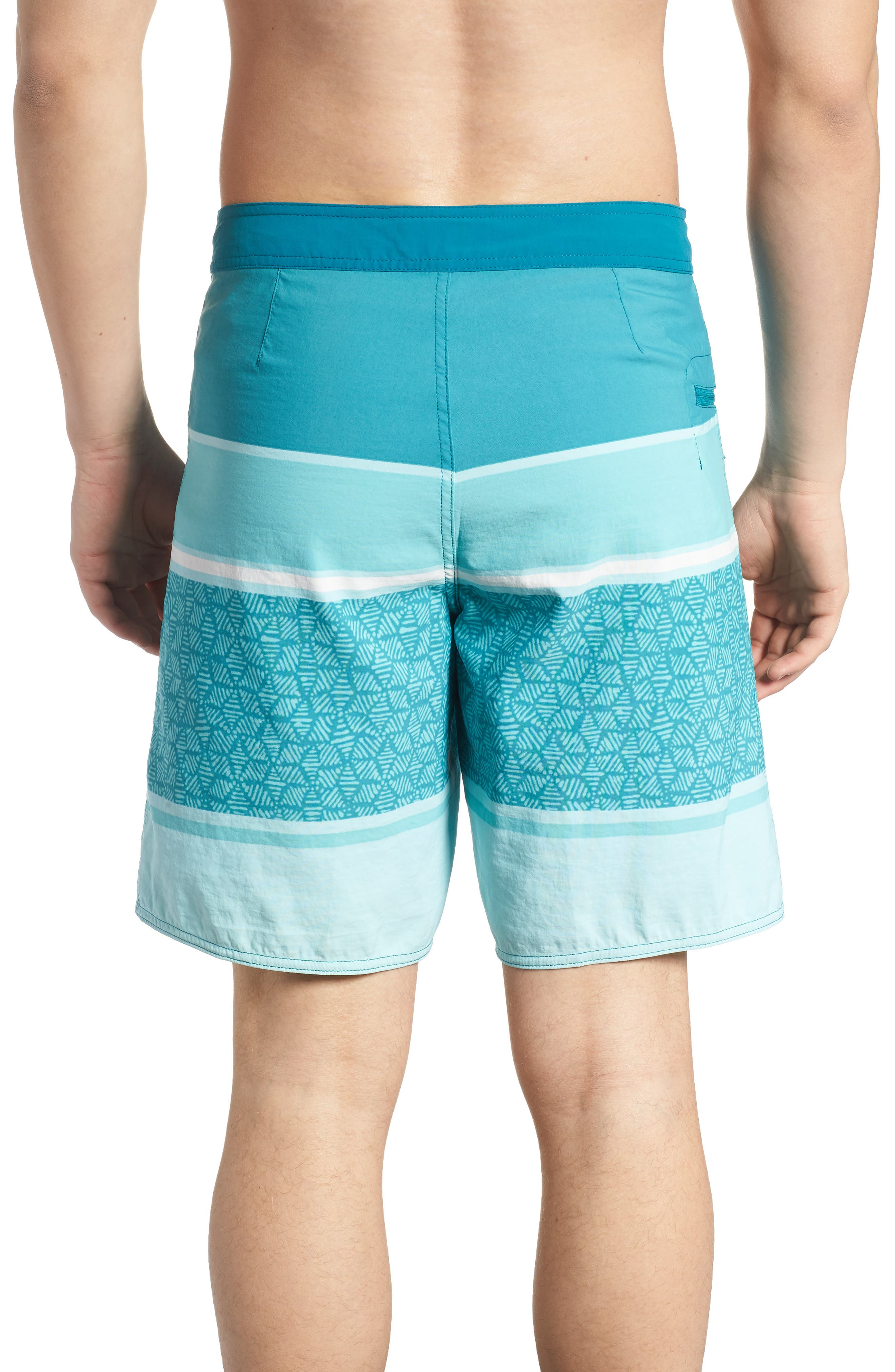 Wavefarer Board Shorts,                             Alternate thumbnail 2, color,                             Batik Hex Stripe Bend Blue