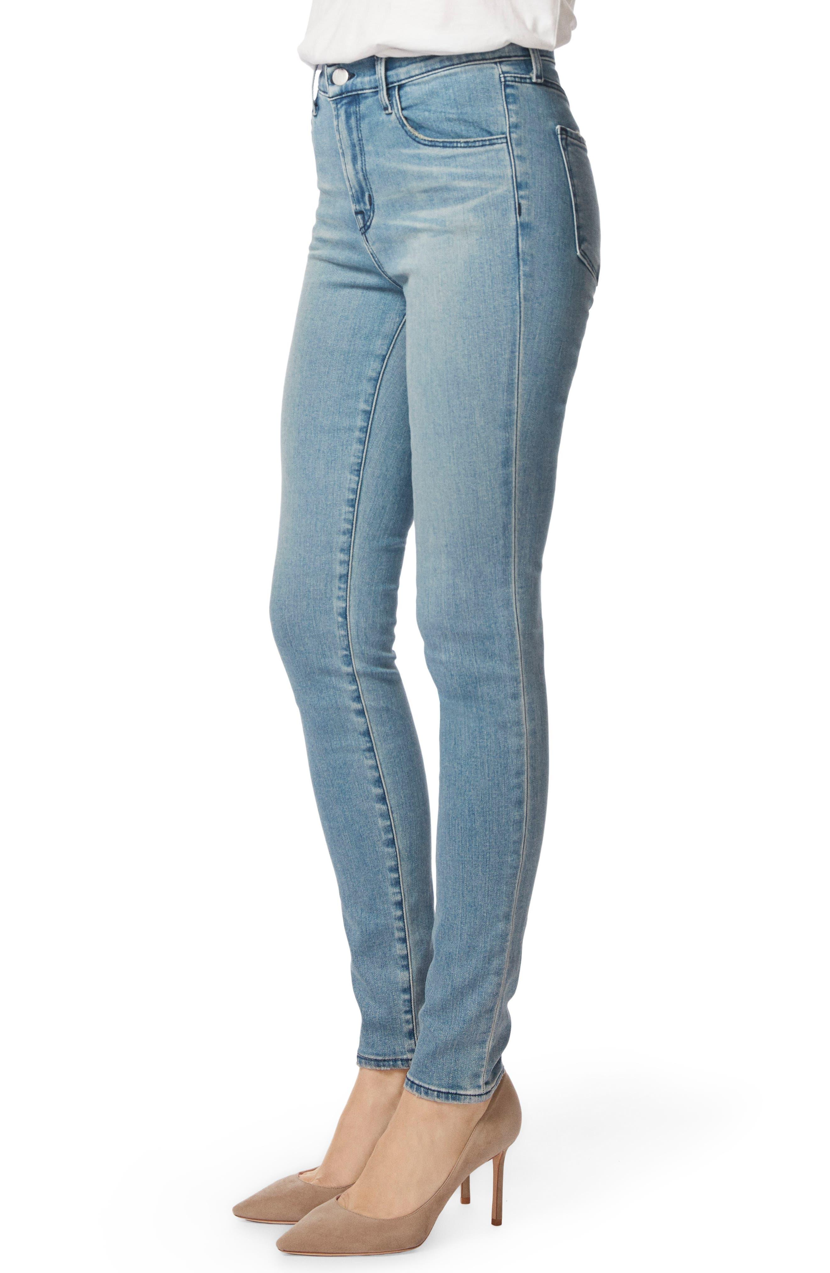 Maria High Waist Skinny Jeans,                             Alternate thumbnail 3, color,                             Patriot