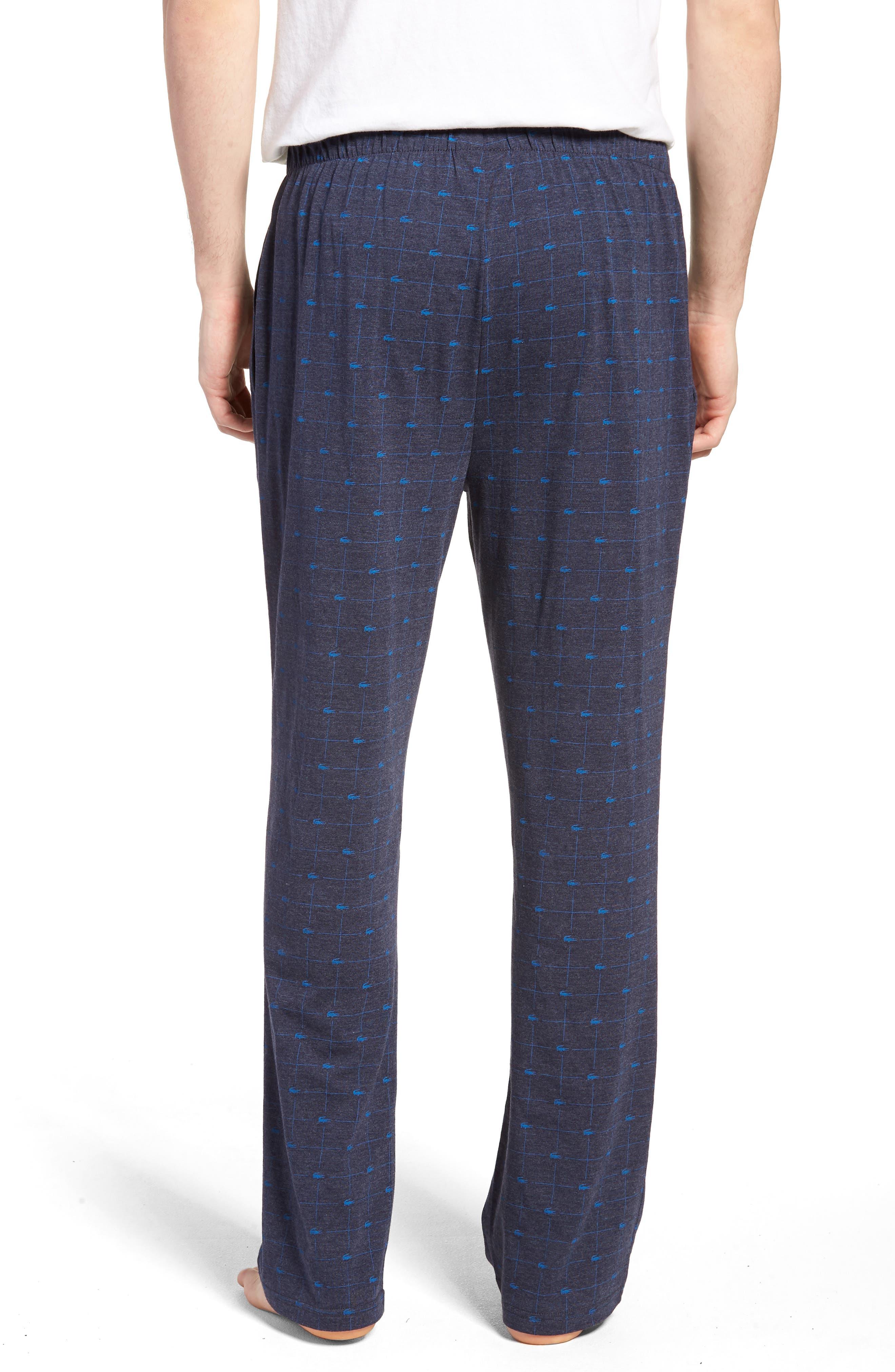 Print Lounge Pants,                             Alternate thumbnail 2, color,                             Classic Blue