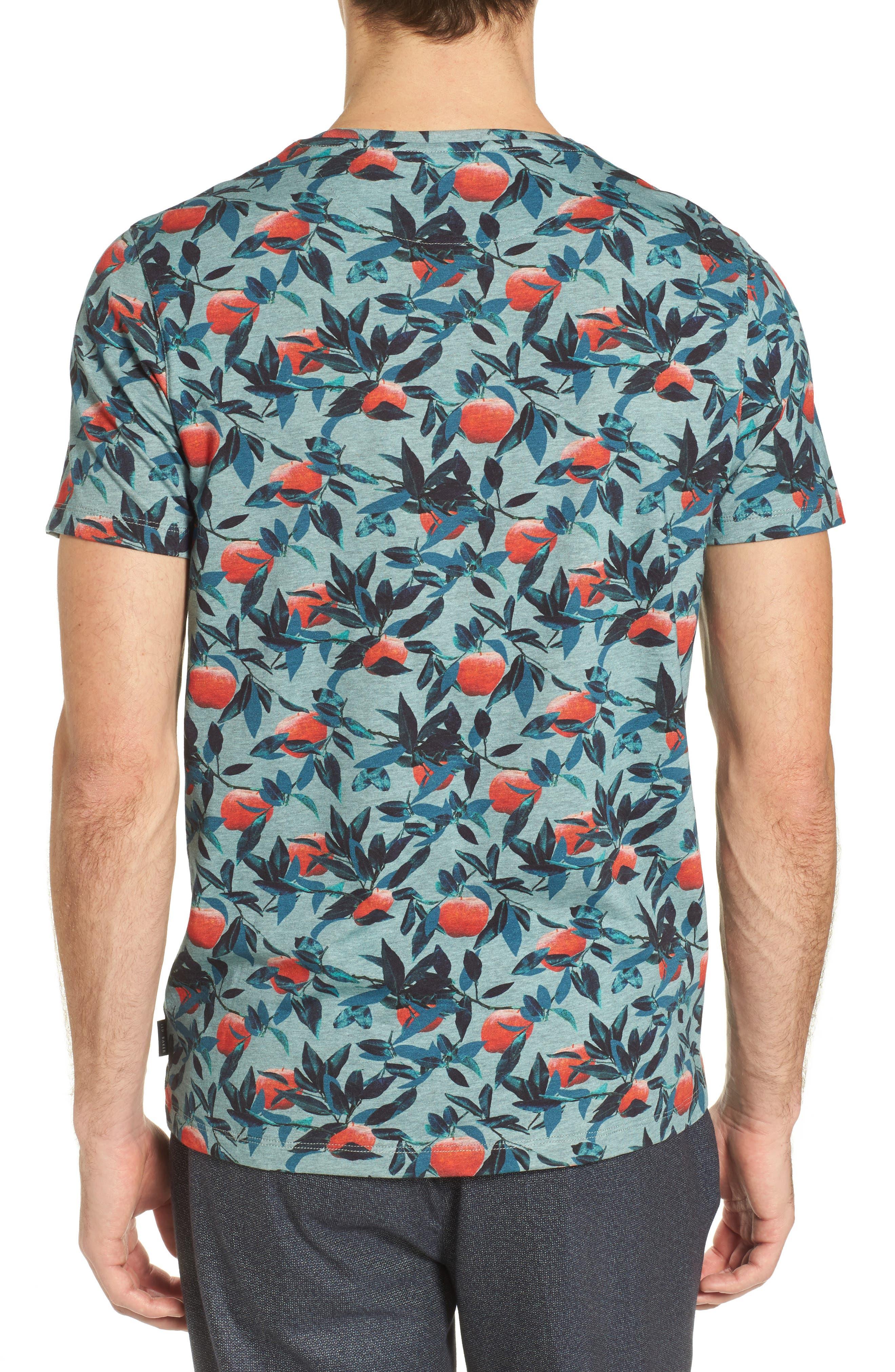 Fithe Apple Print T-Shirt,                             Alternate thumbnail 2, color,                             Light Blue