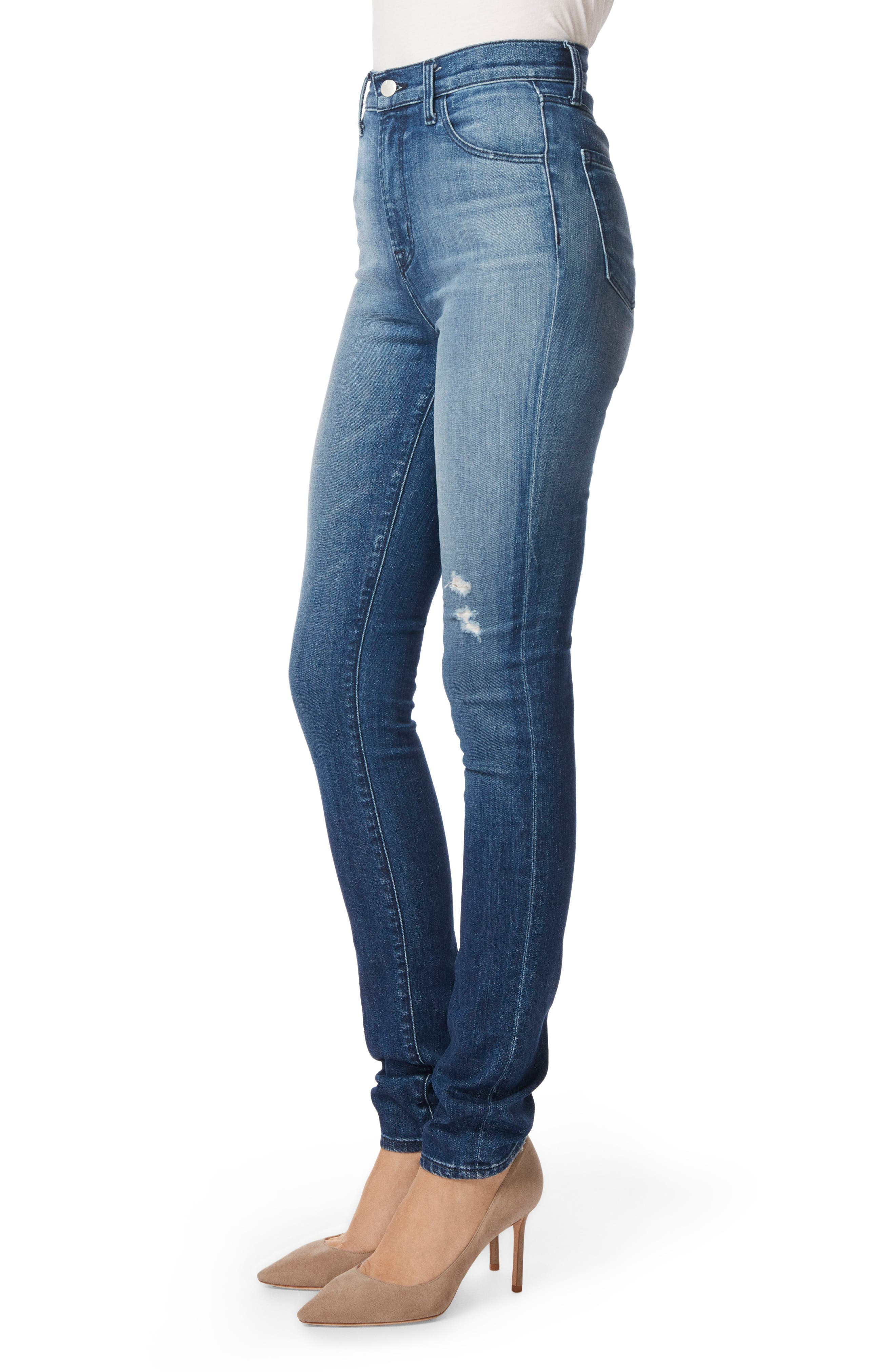 Carolina Super High Waist Skinny Jeans,                             Alternate thumbnail 3, color,                             Mystic