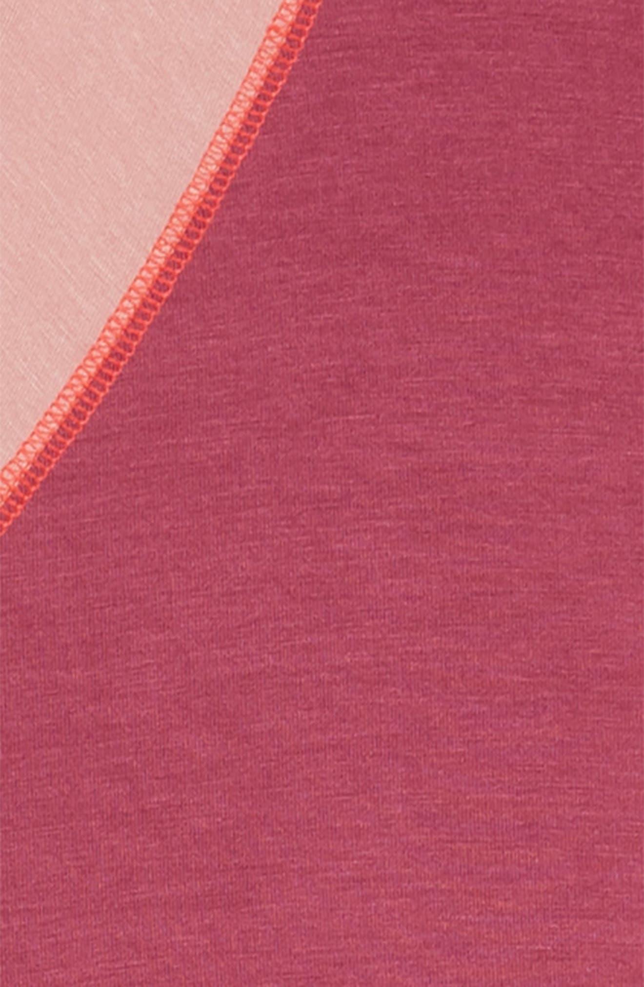 Cold Shoulder Dress,                             Alternate thumbnail 3, color,                             Magenta Pink