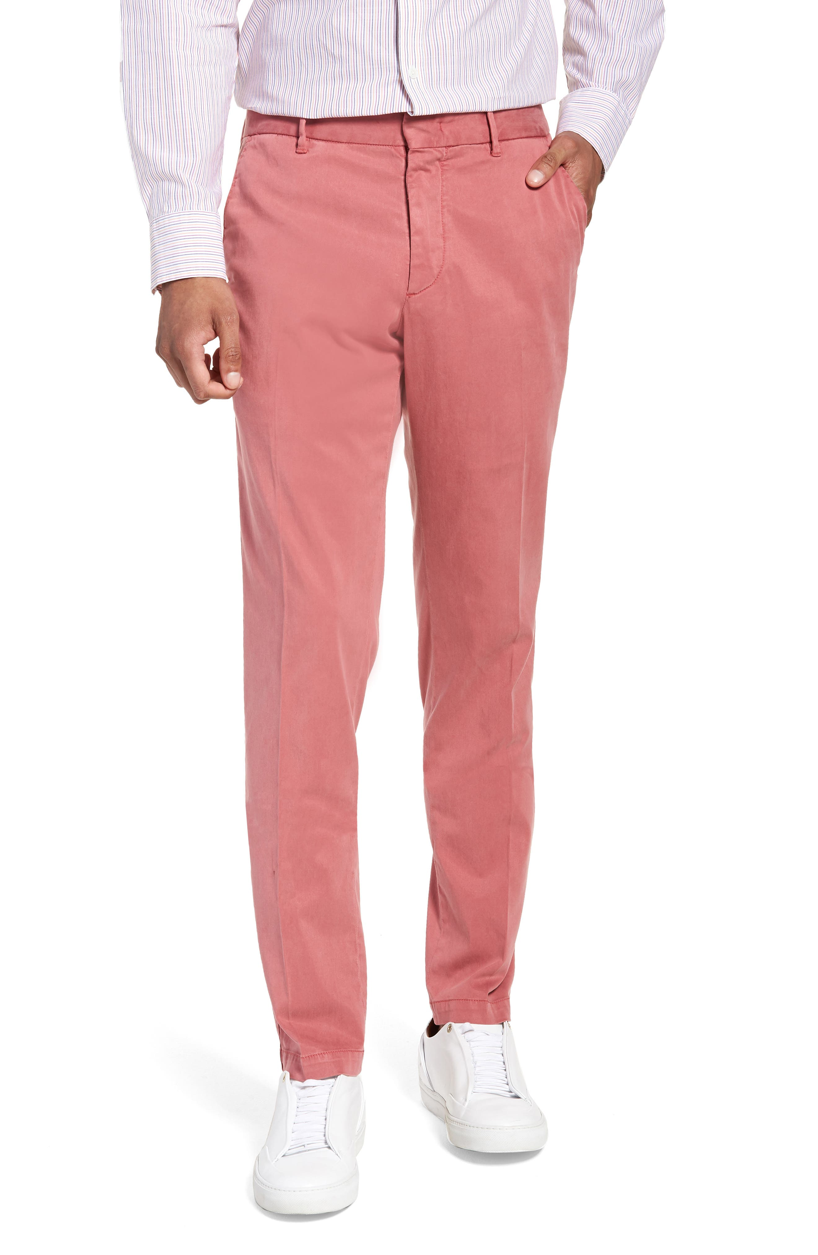 Aster Straight Fit Pants,                         Main,                         color, Pink