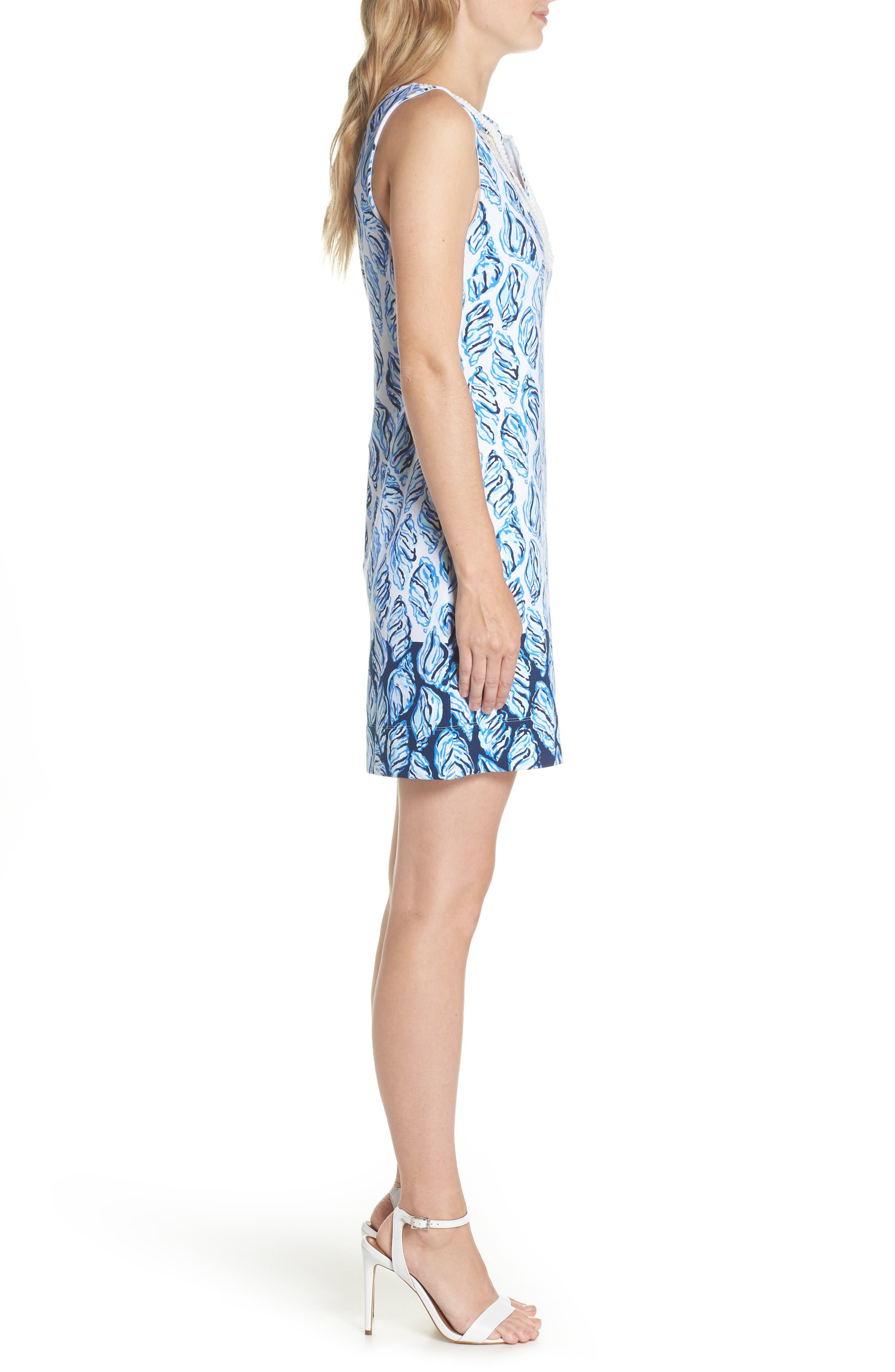 Harper Shift Dress,                             Alternate thumbnail 3, color,                             Resort White Drop In