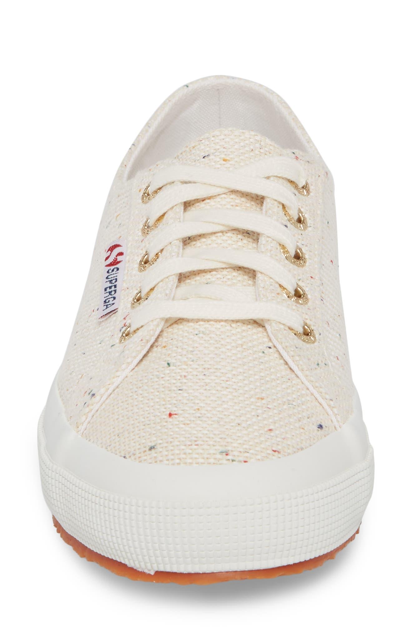 2750 Speckle Low Top Sneaker,                             Alternate thumbnail 4, color,                             White Multi
