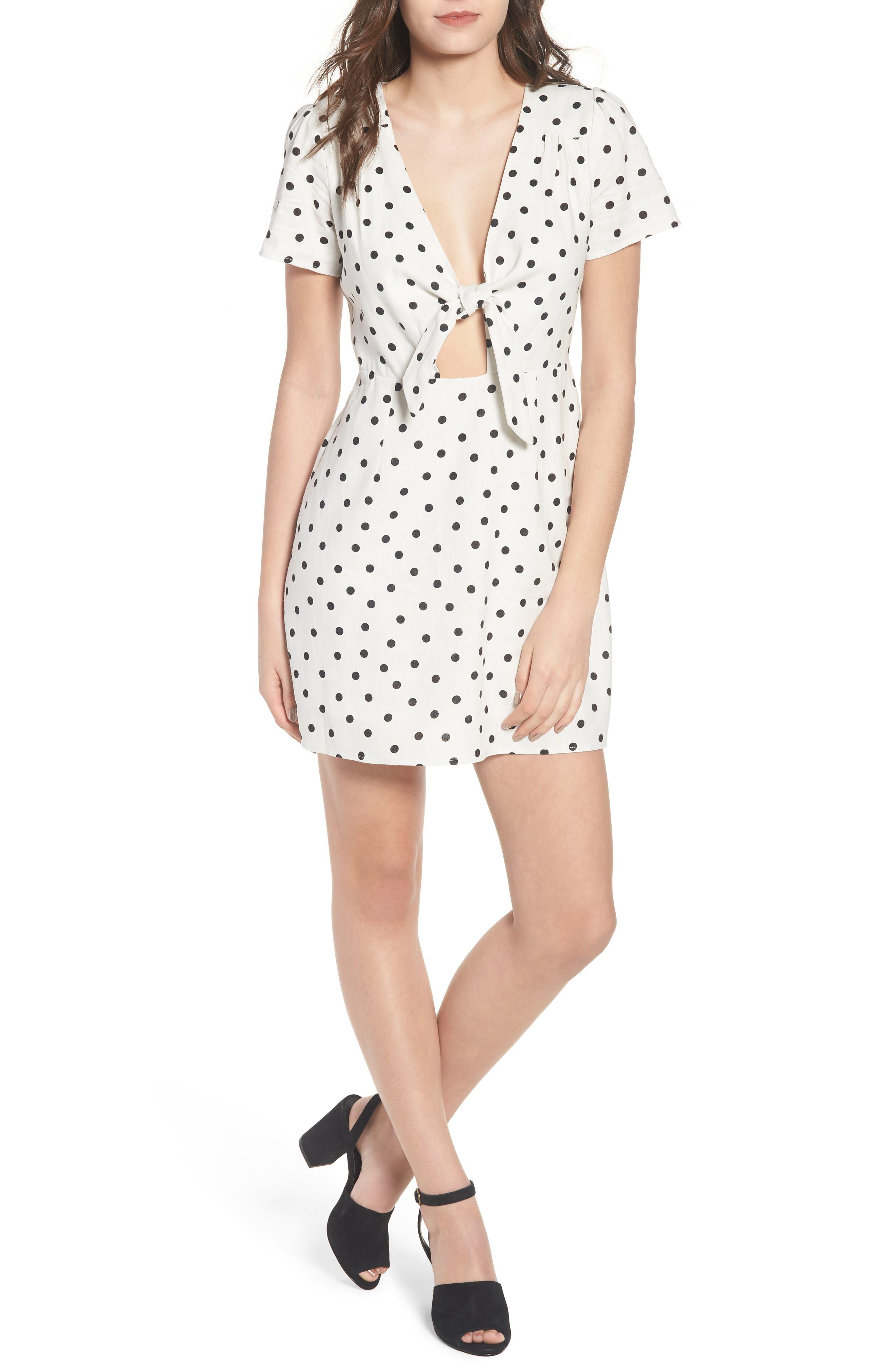 Main Image - Socialite Tie Front Cutout Minidress