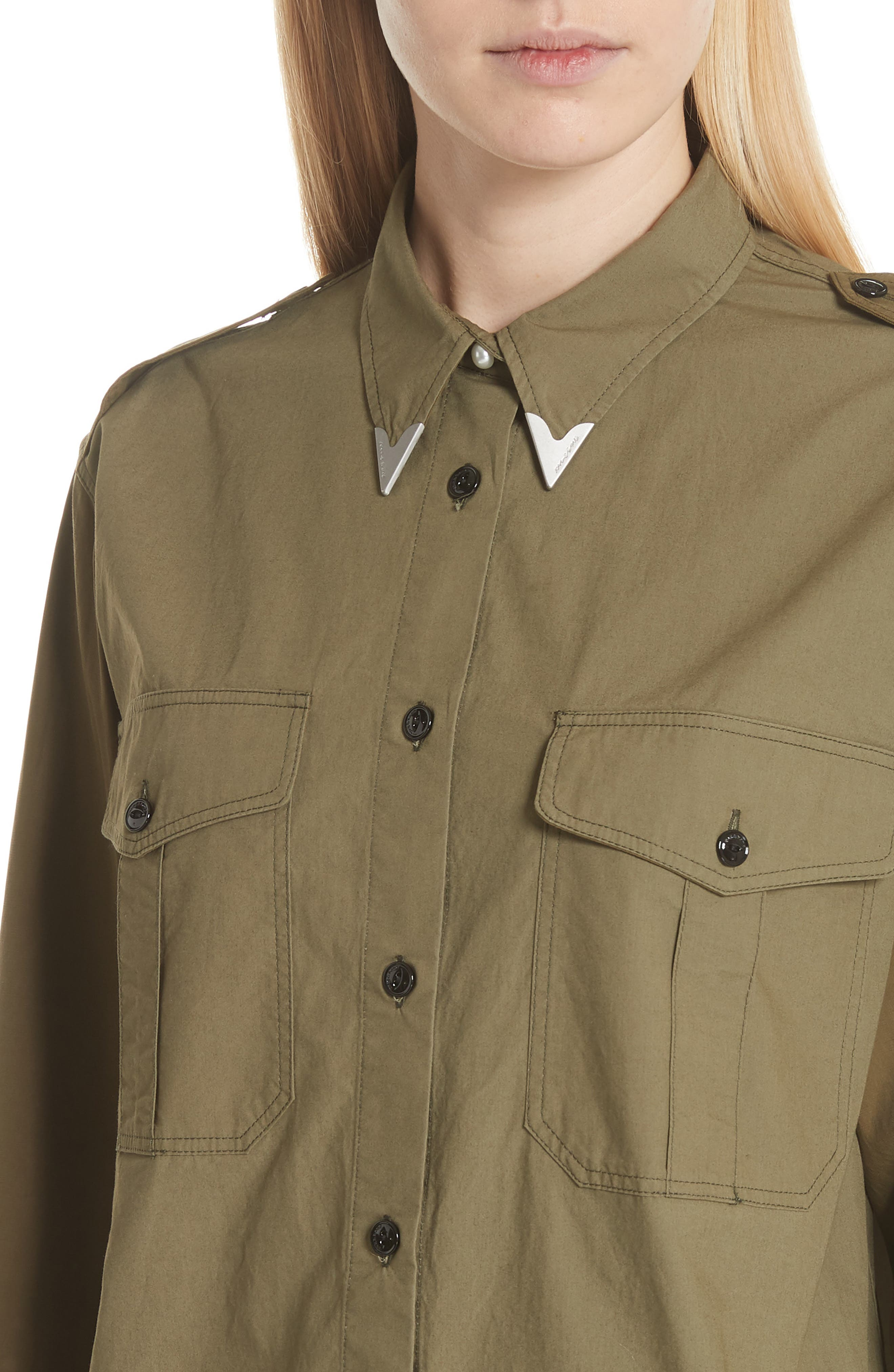 Pearson Shirt,                             Alternate thumbnail 4, color,                             Dusty Olive