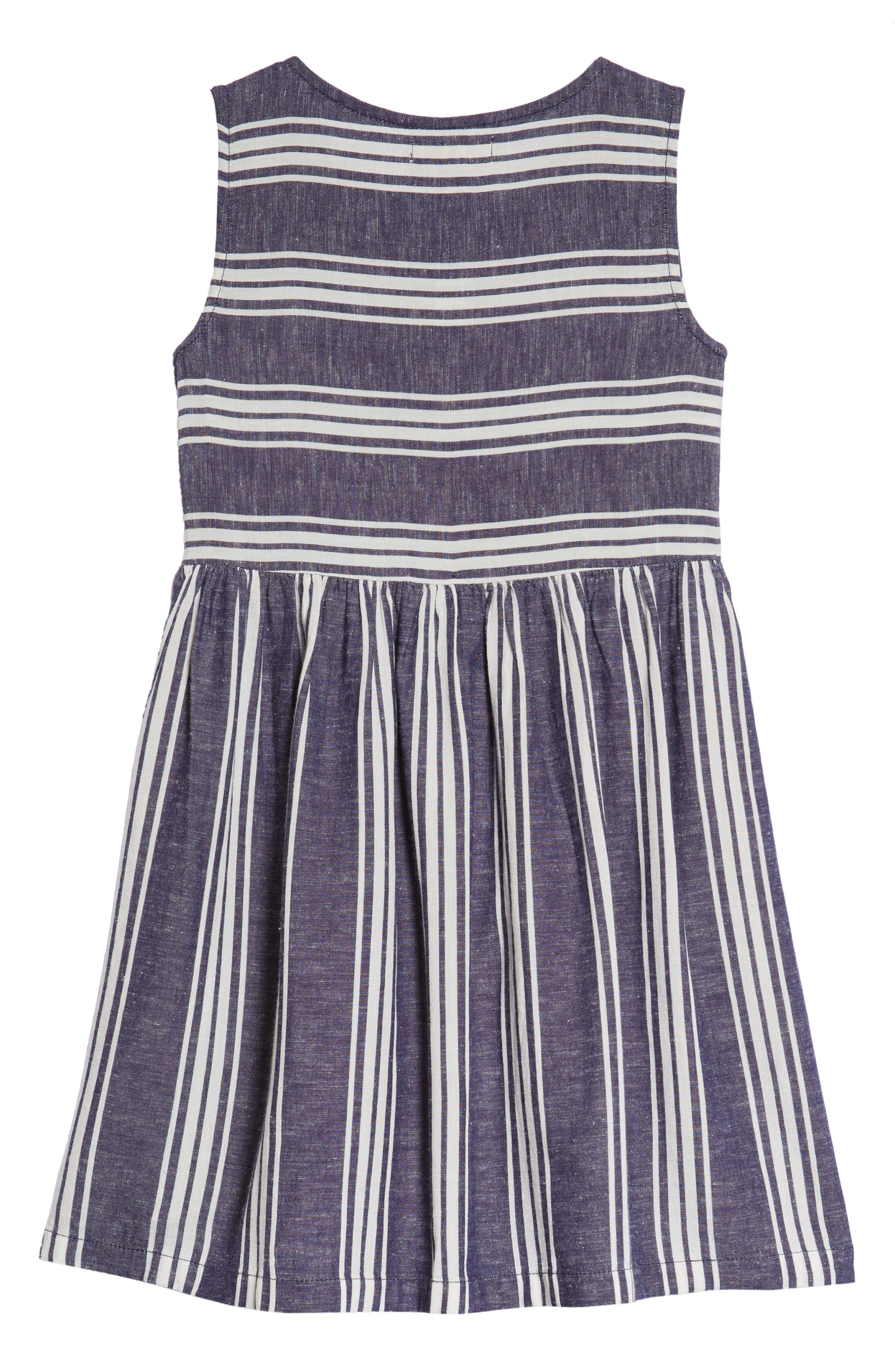 Alternate Image 2  - Tucker + Tate Stripe Fit & Flare Dress (Toddler Girls, Little Girls & Big Girls)