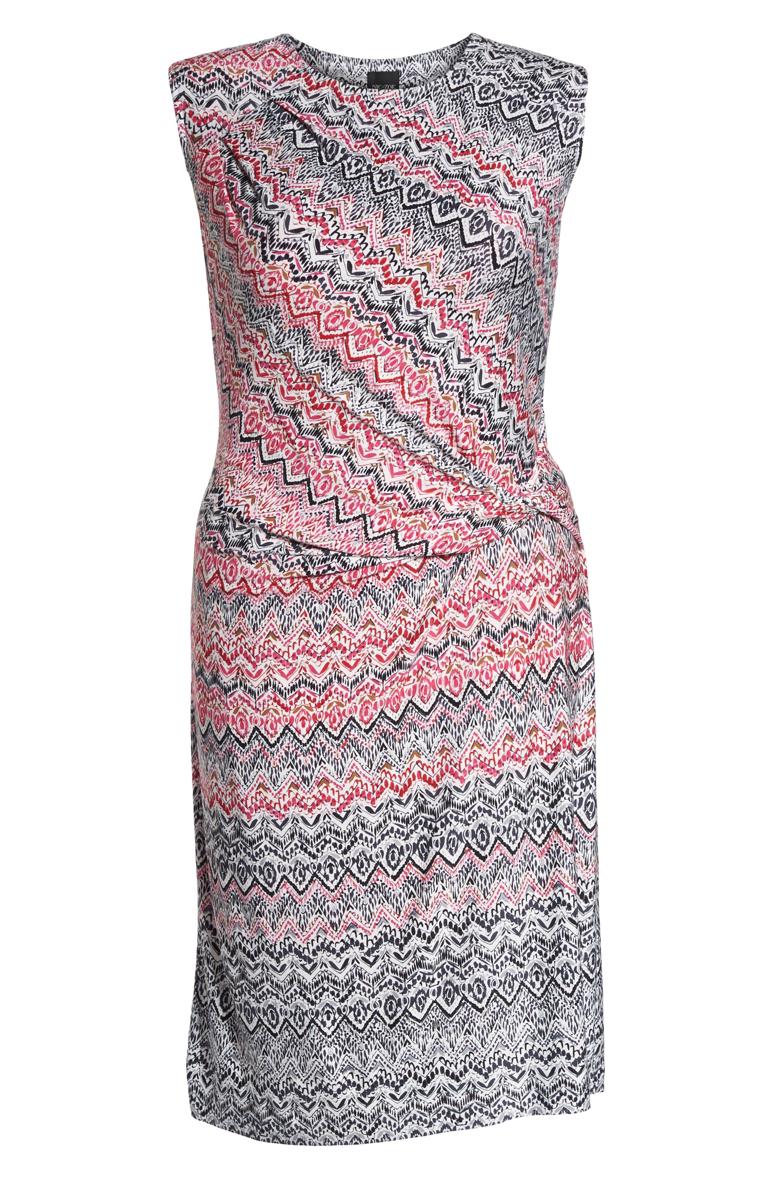 Spiced Up Twist Sheath Dress,                             Alternate thumbnail 6, color,                             Multi