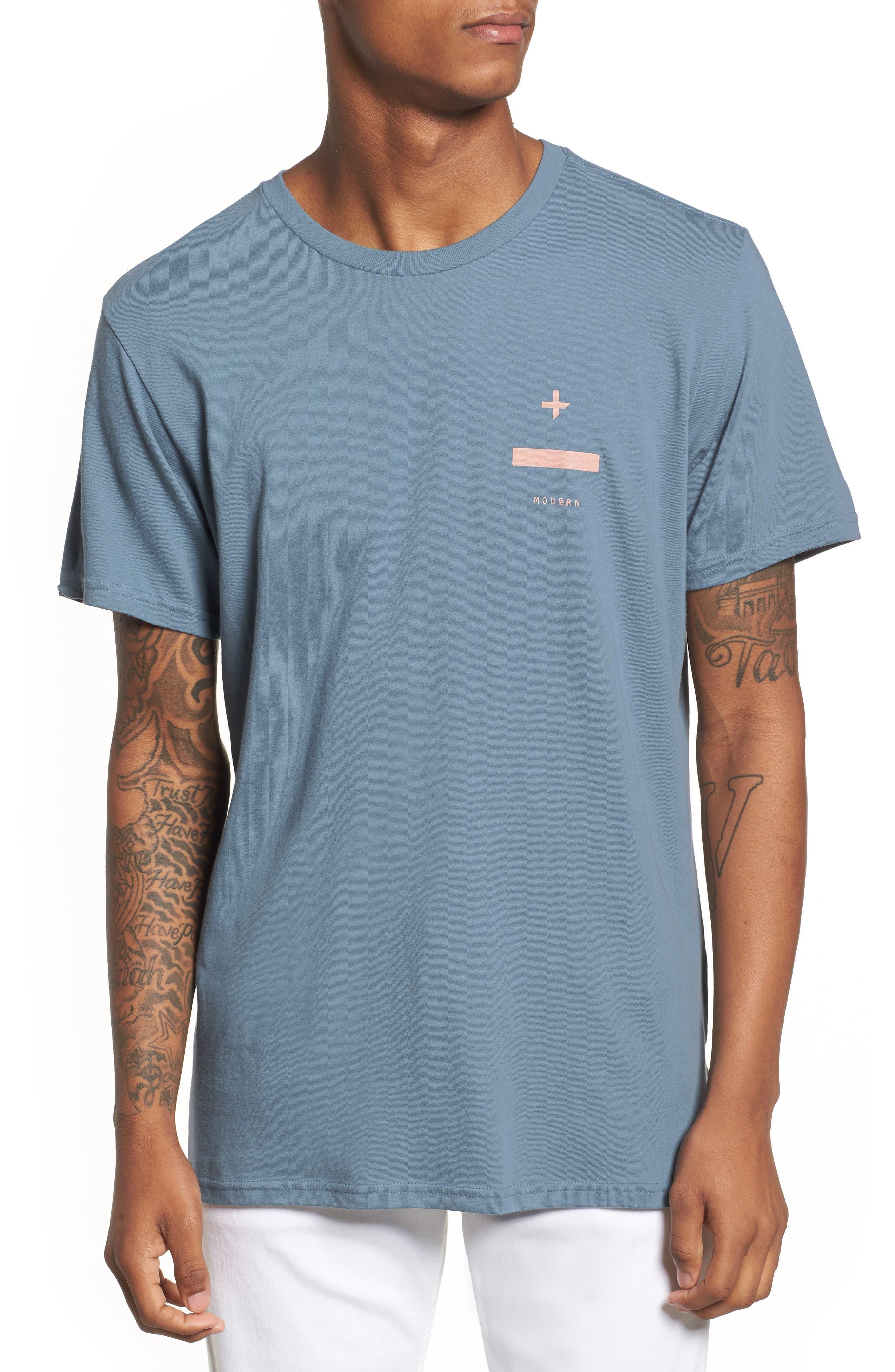 Nove Graphic T-Shirt,                         Main,                         color, Prison Blue