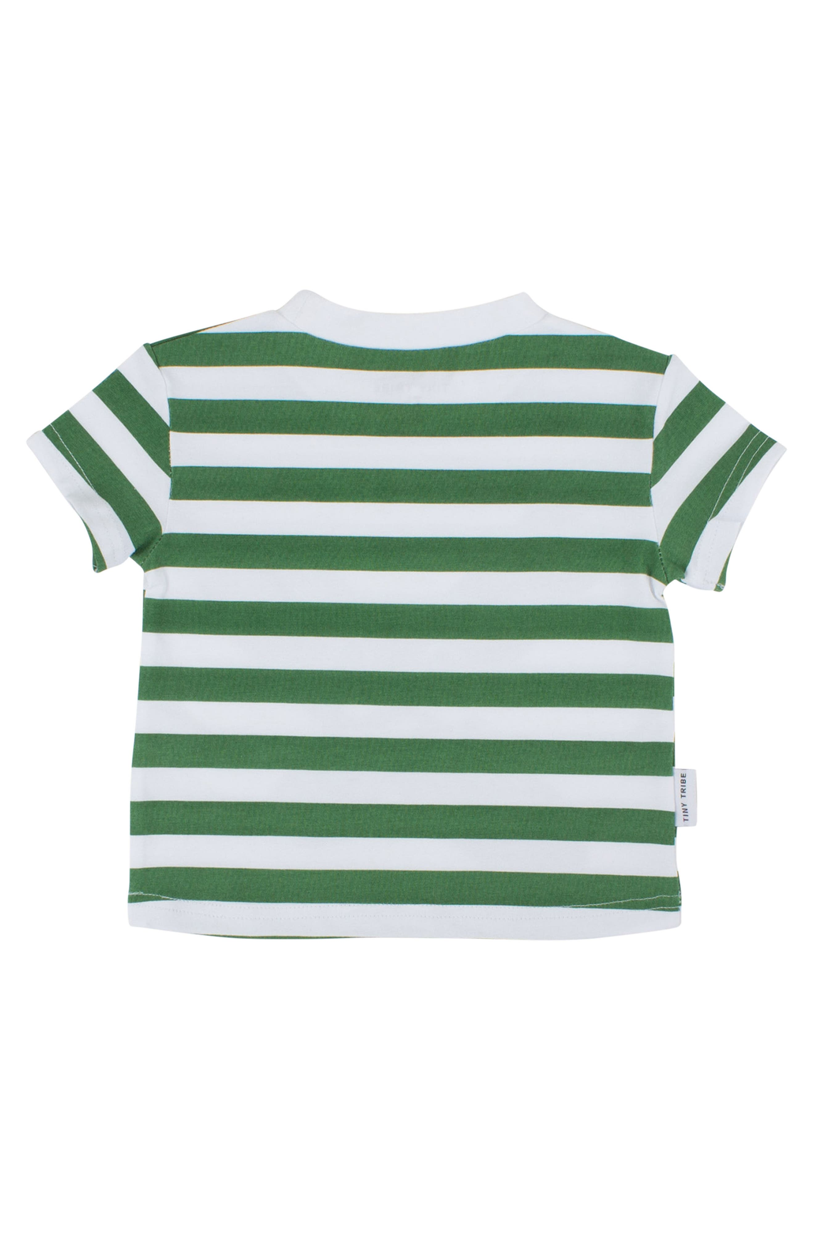 Alternate Image 2  - Tiny Tribe Face Paint Stripe T-Shirt (Toddler Boys & Little Boys)