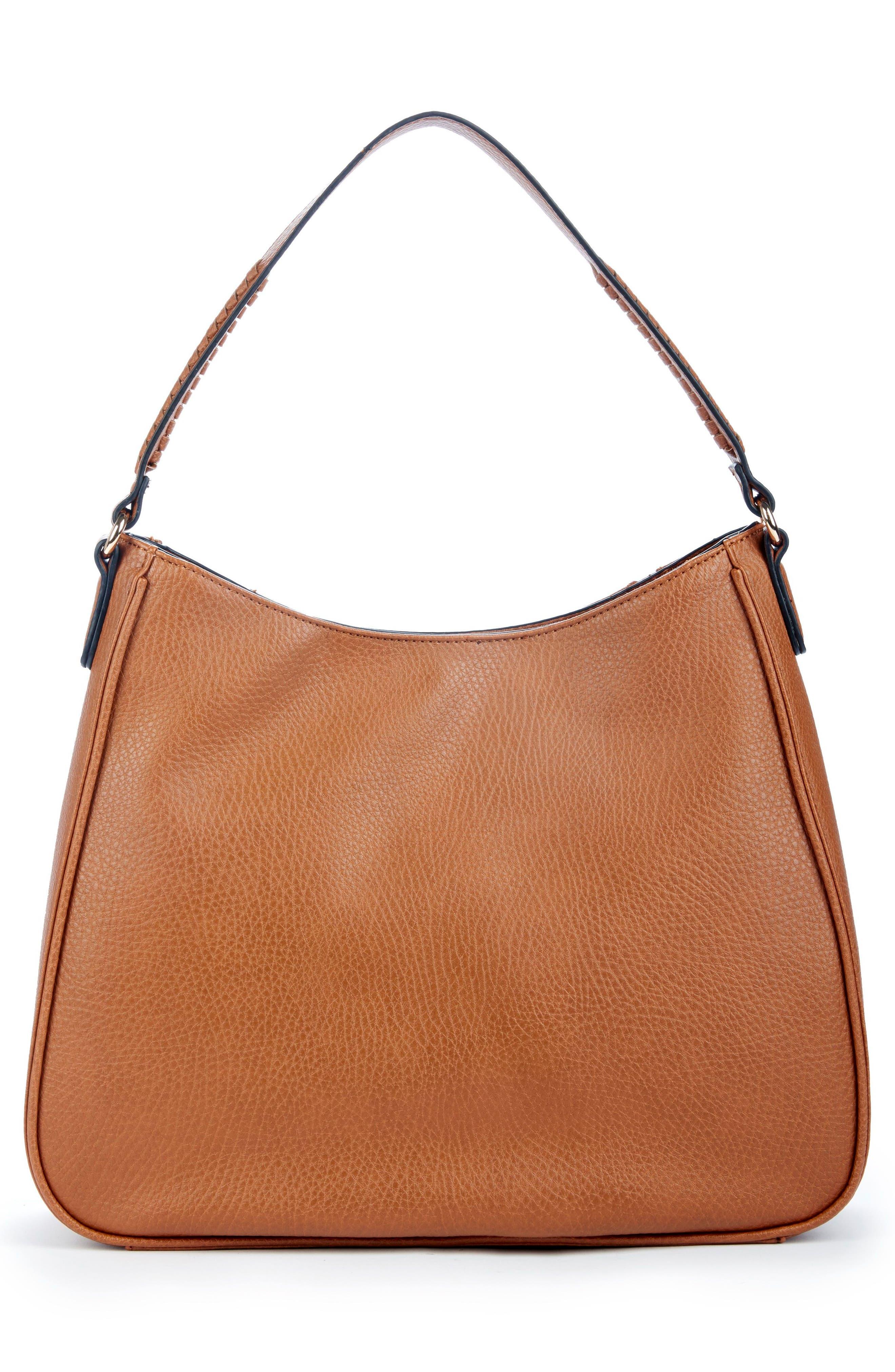 Sarafina Faux Leather Shoulder Bag,                             Alternate thumbnail 2, color,                             Cognac