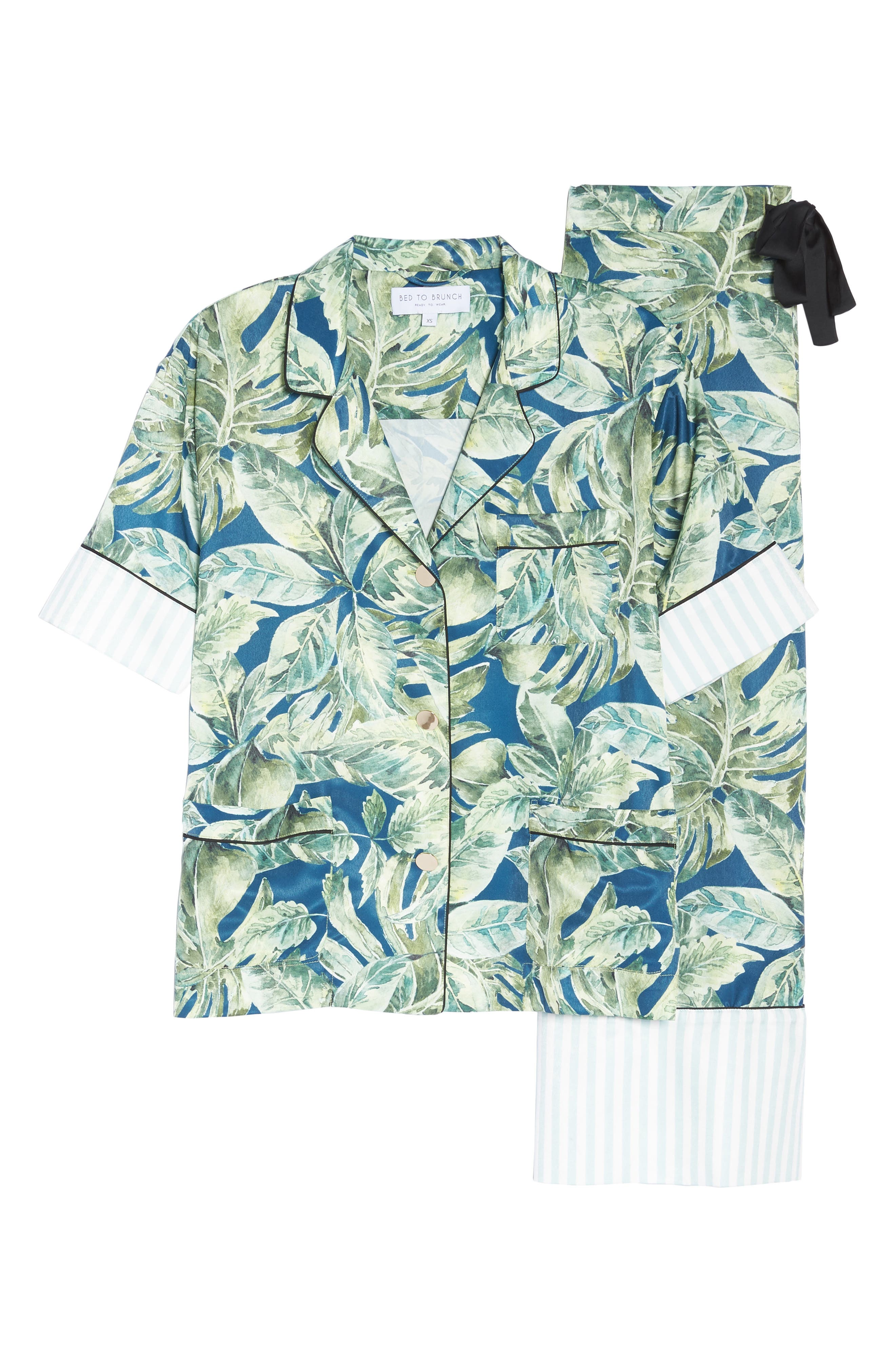Cropped Pajamas,                             Alternate thumbnail 6, color,                             Pacific Palm