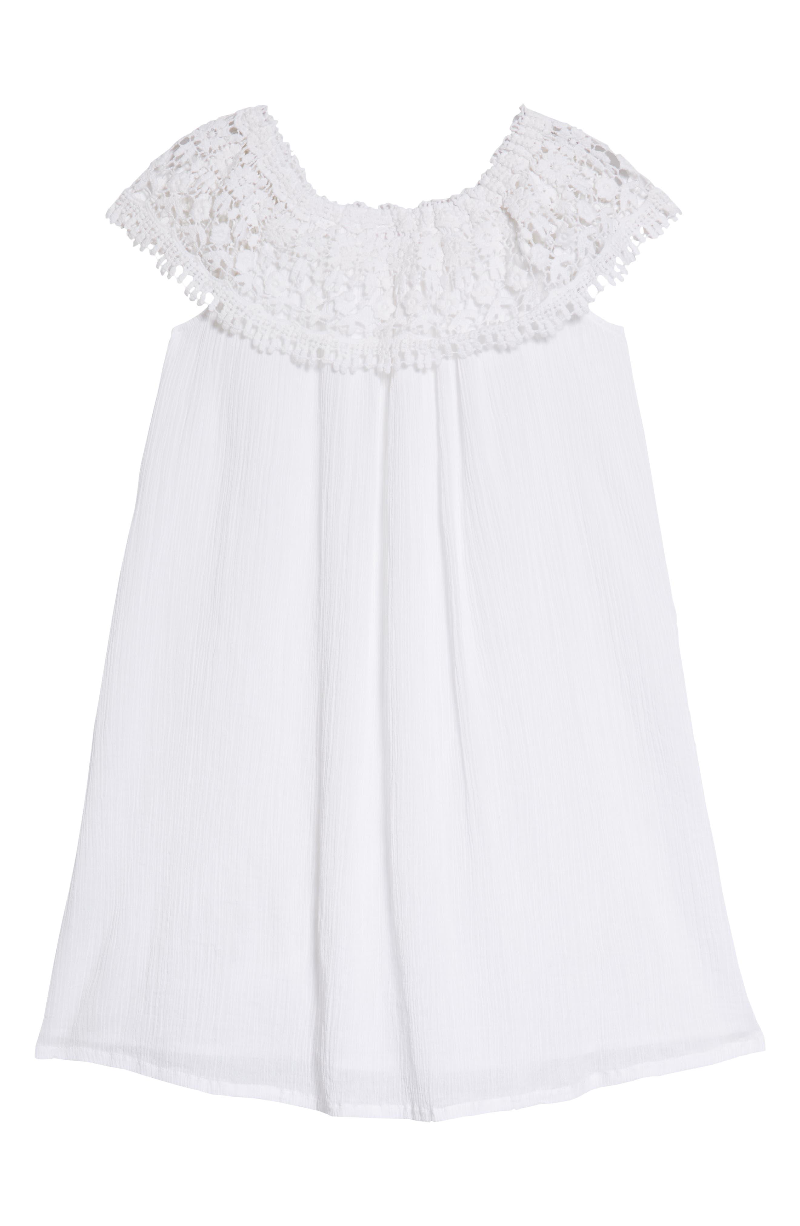 Lace Swing Dress,                             Alternate thumbnail 2, color,                             White
