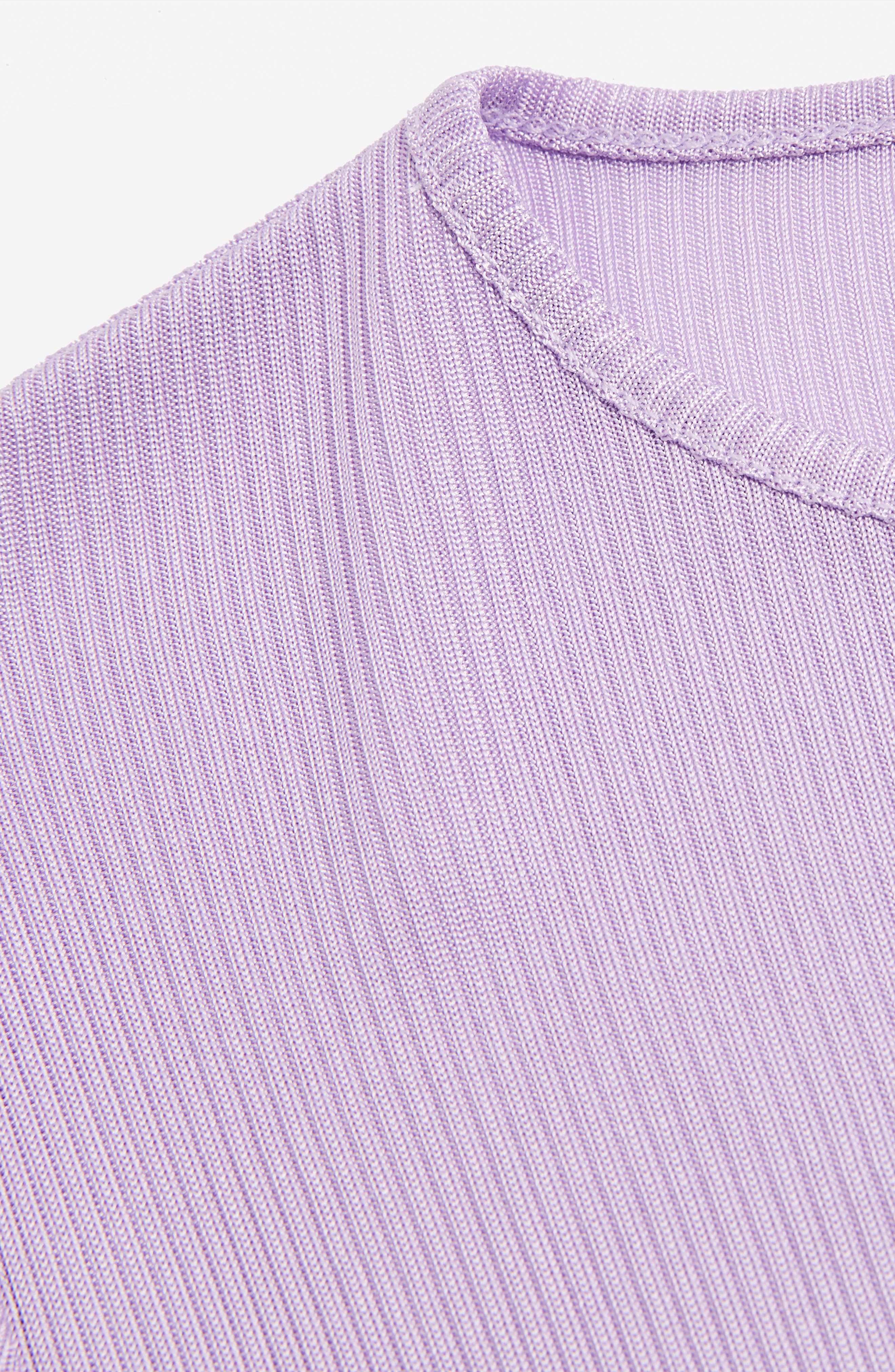 Boutique Ribbed Tee,                             Alternate thumbnail 2, color,                             Purple