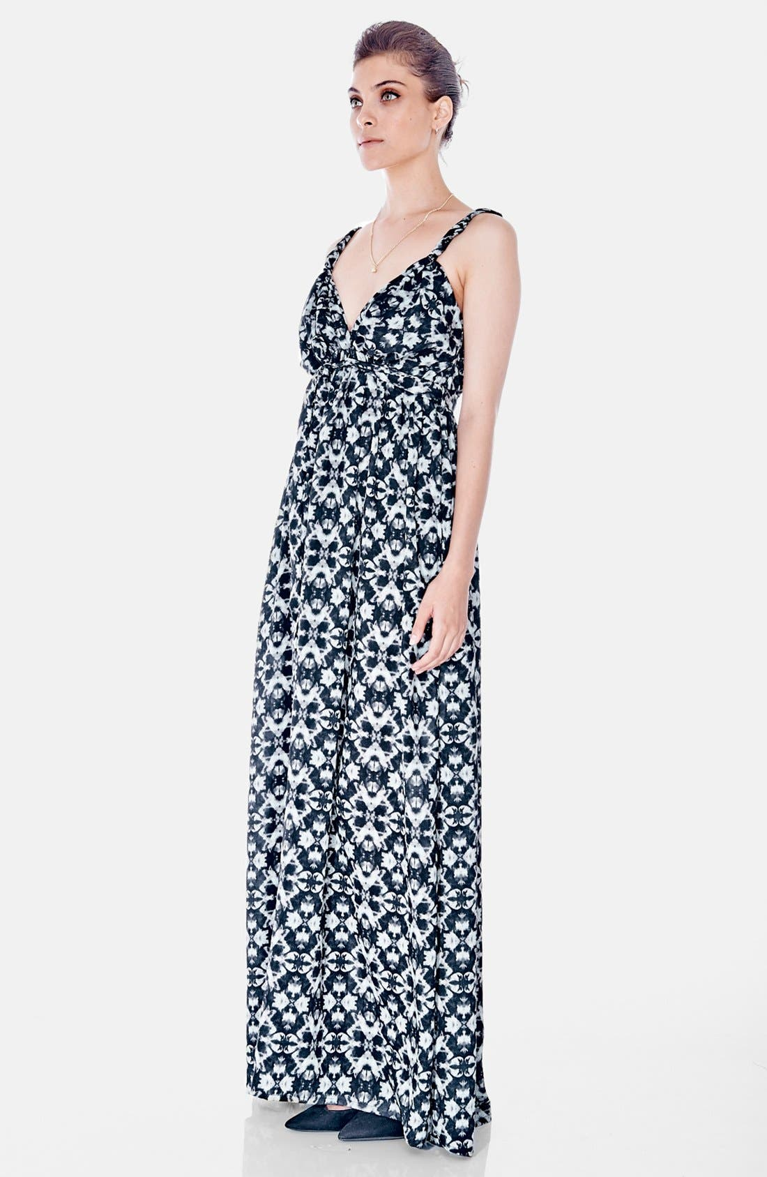 Maxi Maternity Dress,                             Alternate thumbnail 4, color,                             Kaleidoscope Print