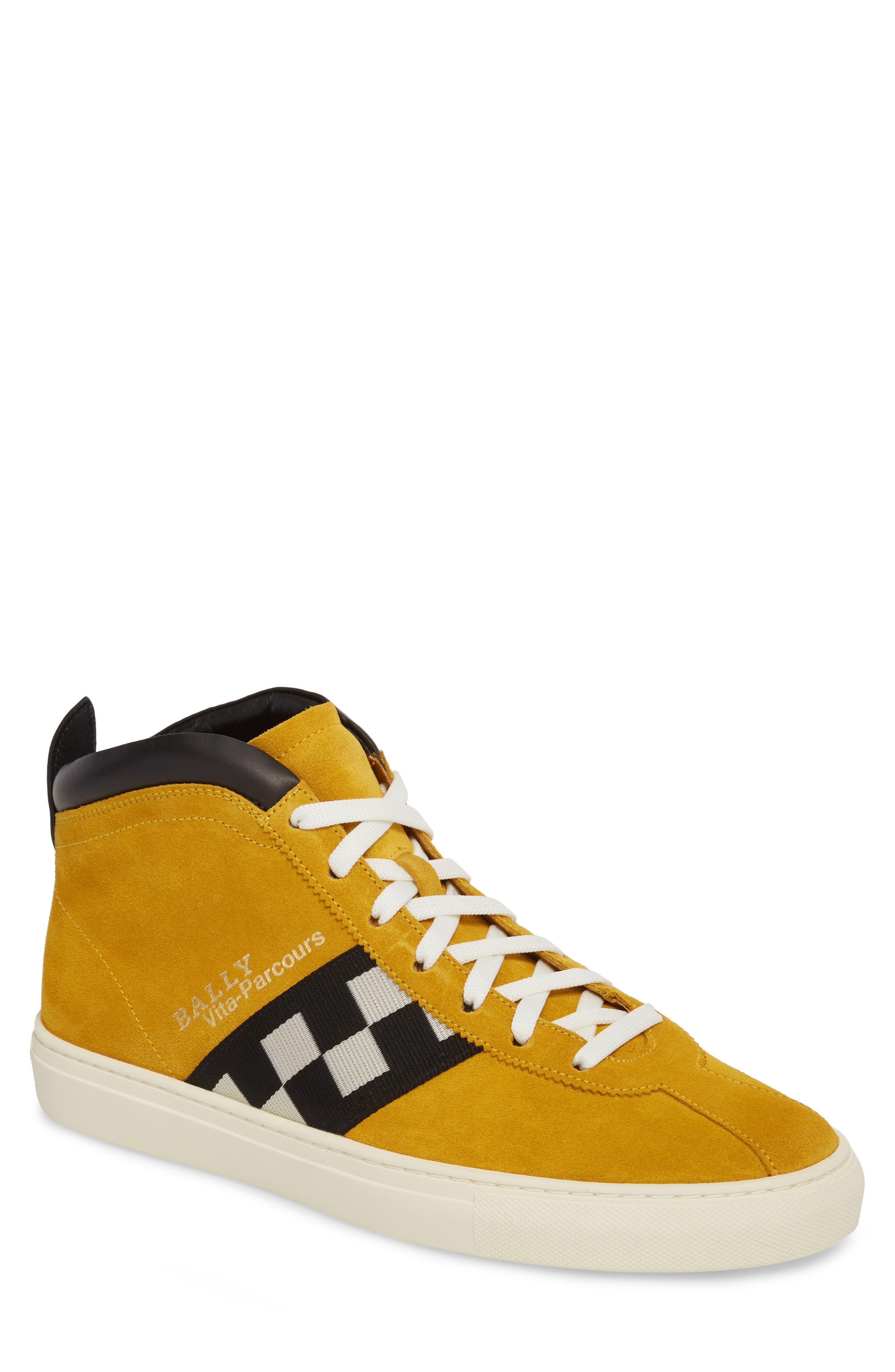 Bally Vita Checkered High Top Sneaker (Men)