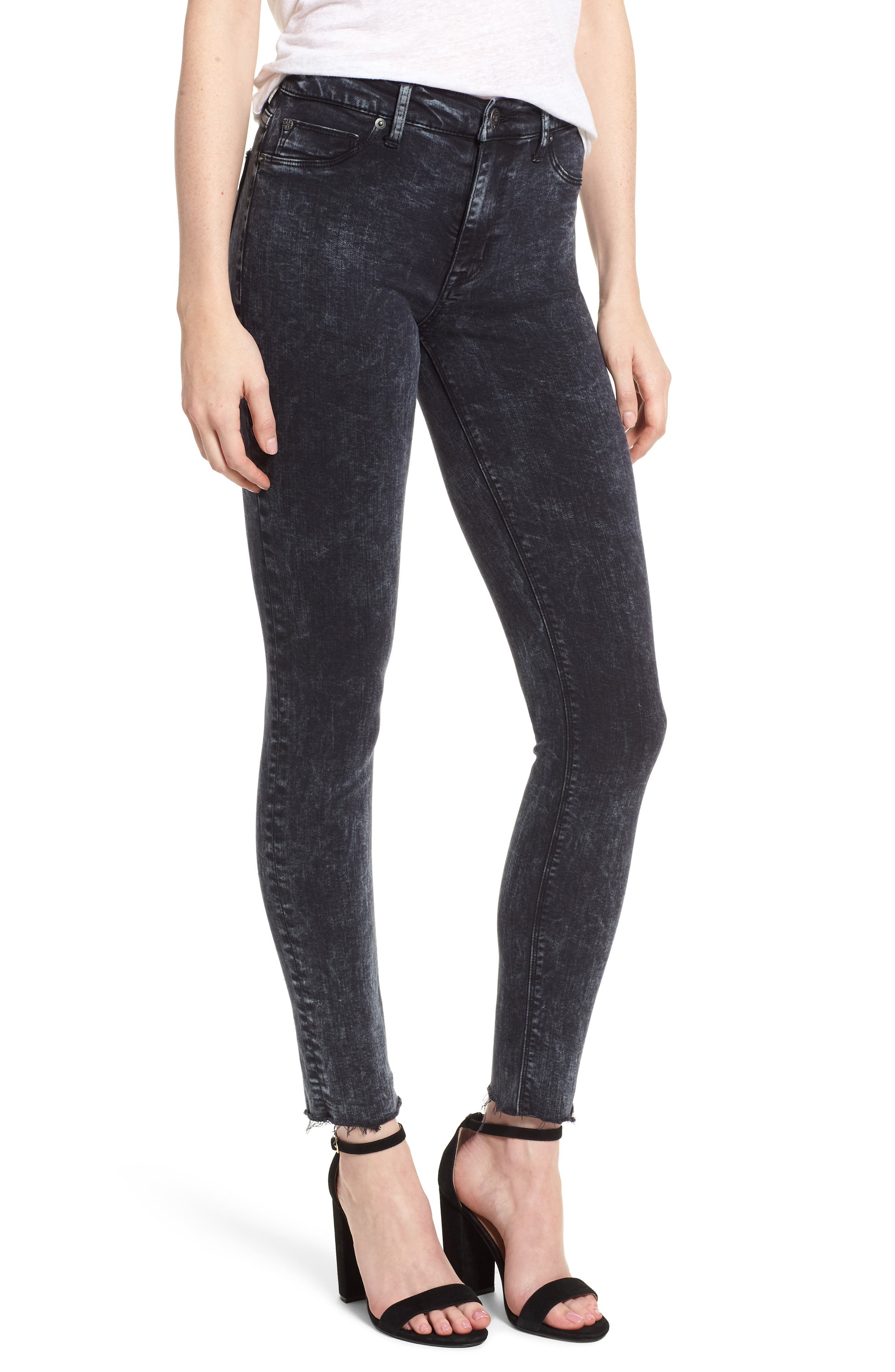 Barbara High Waist Ankle Skinny Jeans,                             Main thumbnail 1, color,                             Dainty