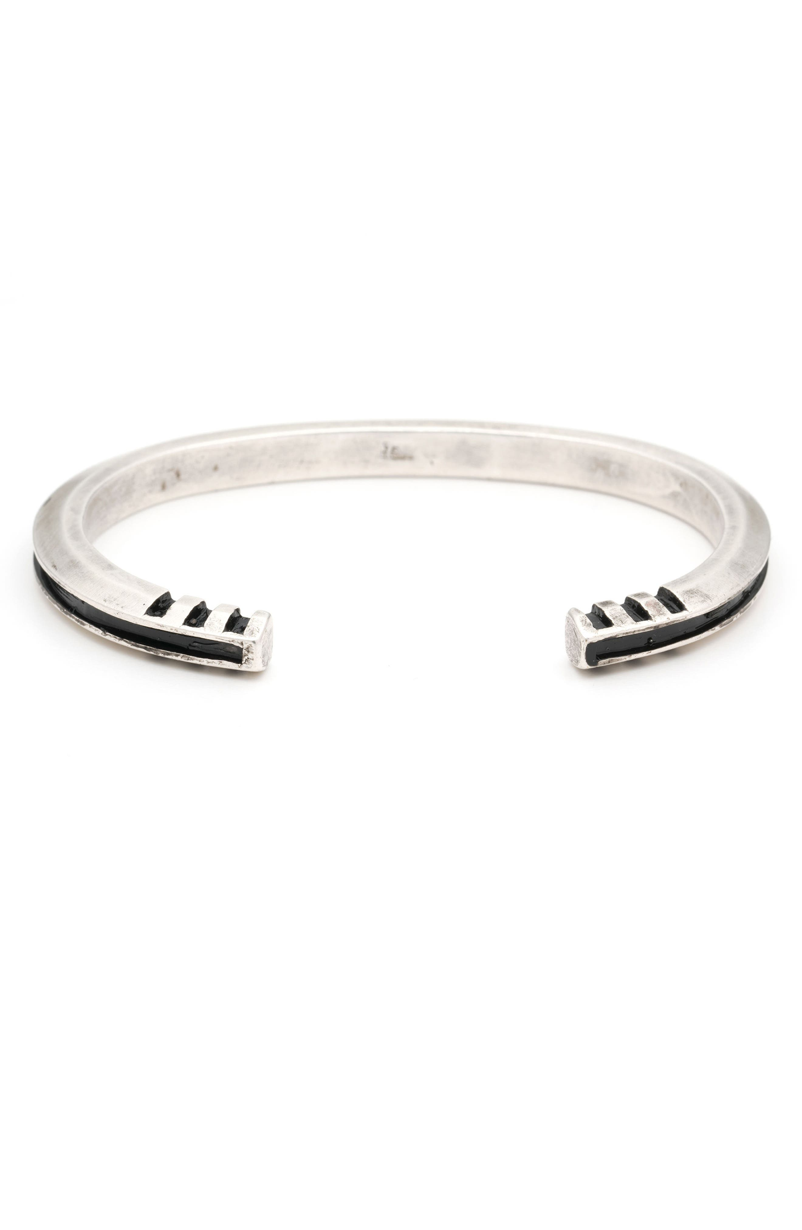 Totality Cuff Bracelet,                         Main,                         color, Silver