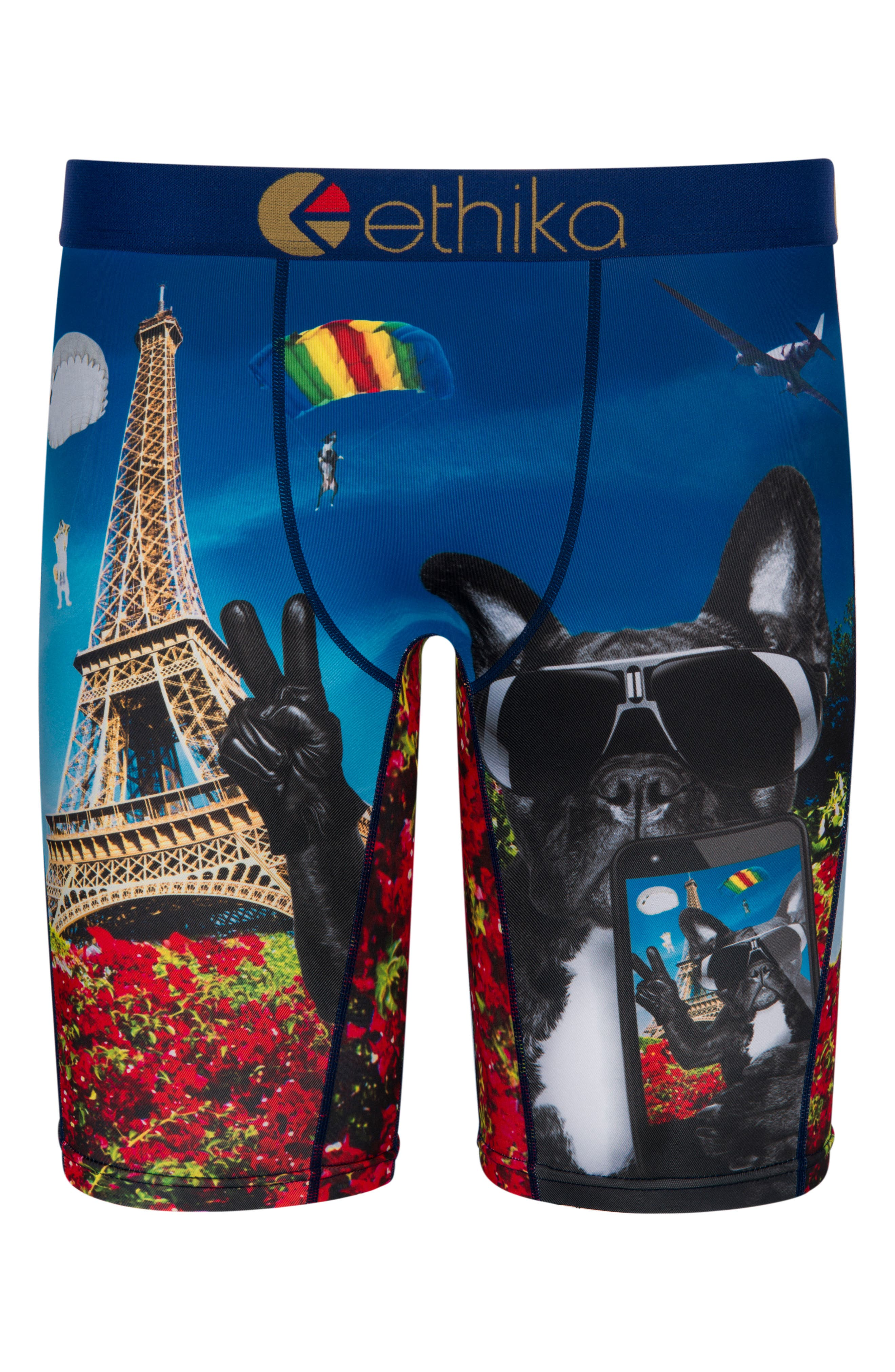 Alternate Image 1 Selected - Ethika French Selfie Stretch Boxer Briefs (Big Boys)