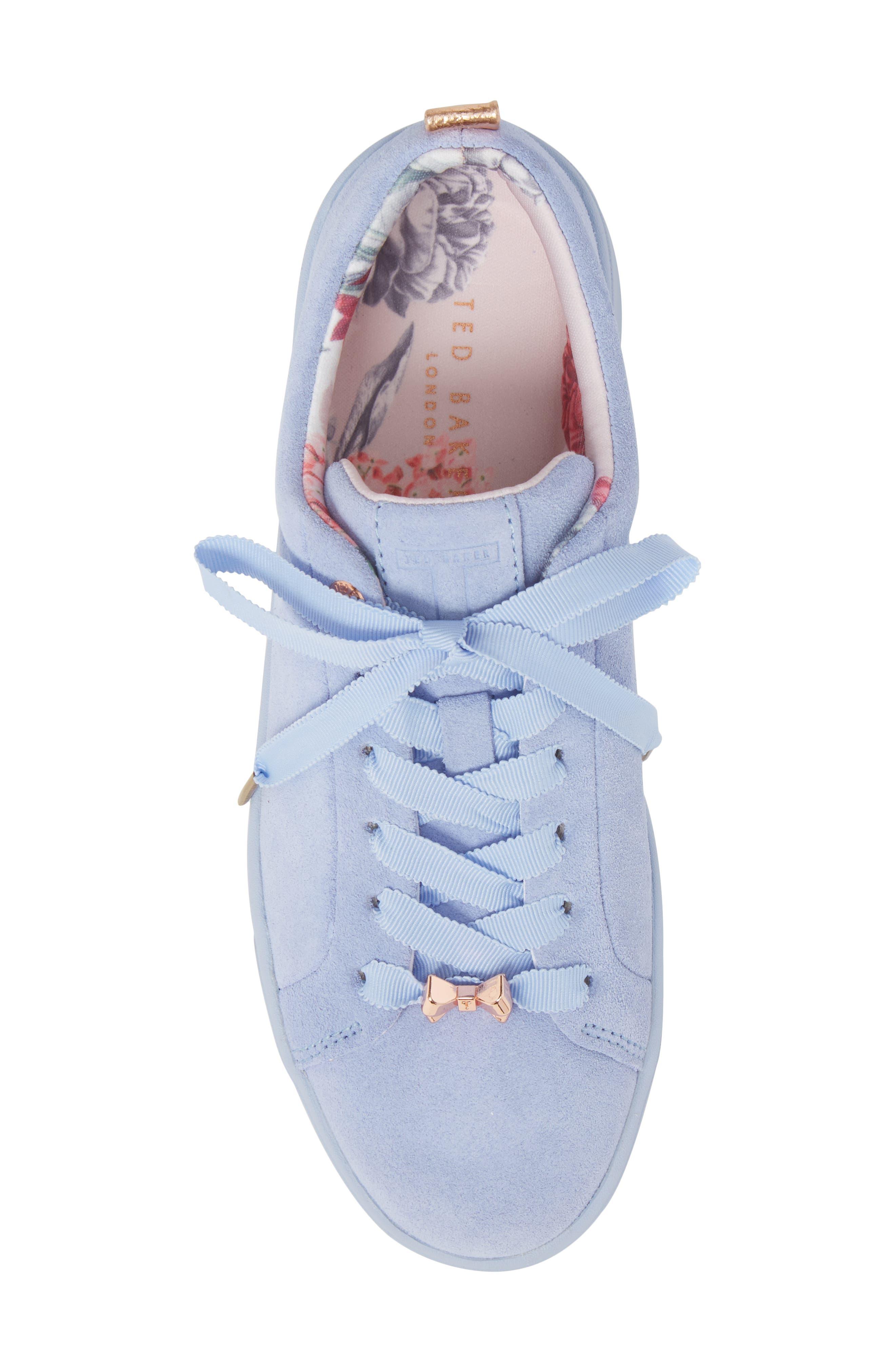 Kelleis Sneaker,                             Alternate thumbnail 5, color,                             Light Blue Suede