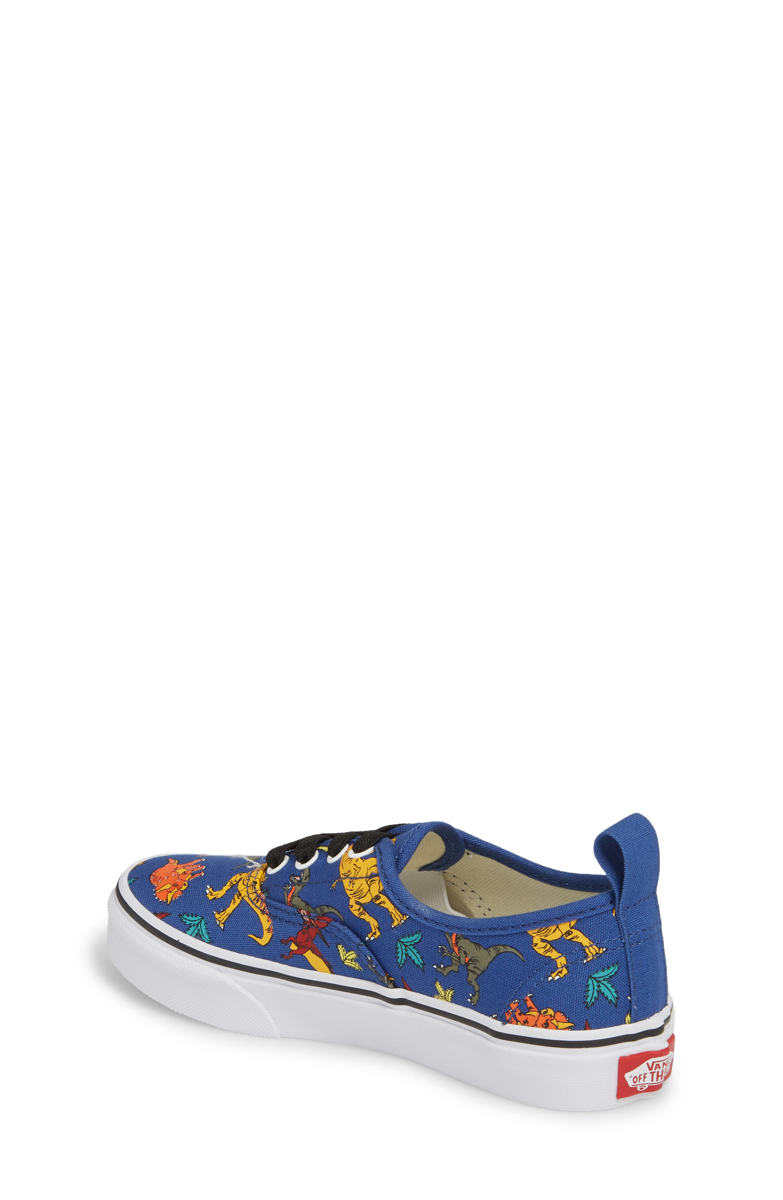 Authentic Elastic Lace Sneaker,                             Alternate thumbnail 2, color,                             Dinosaur Multi/ White