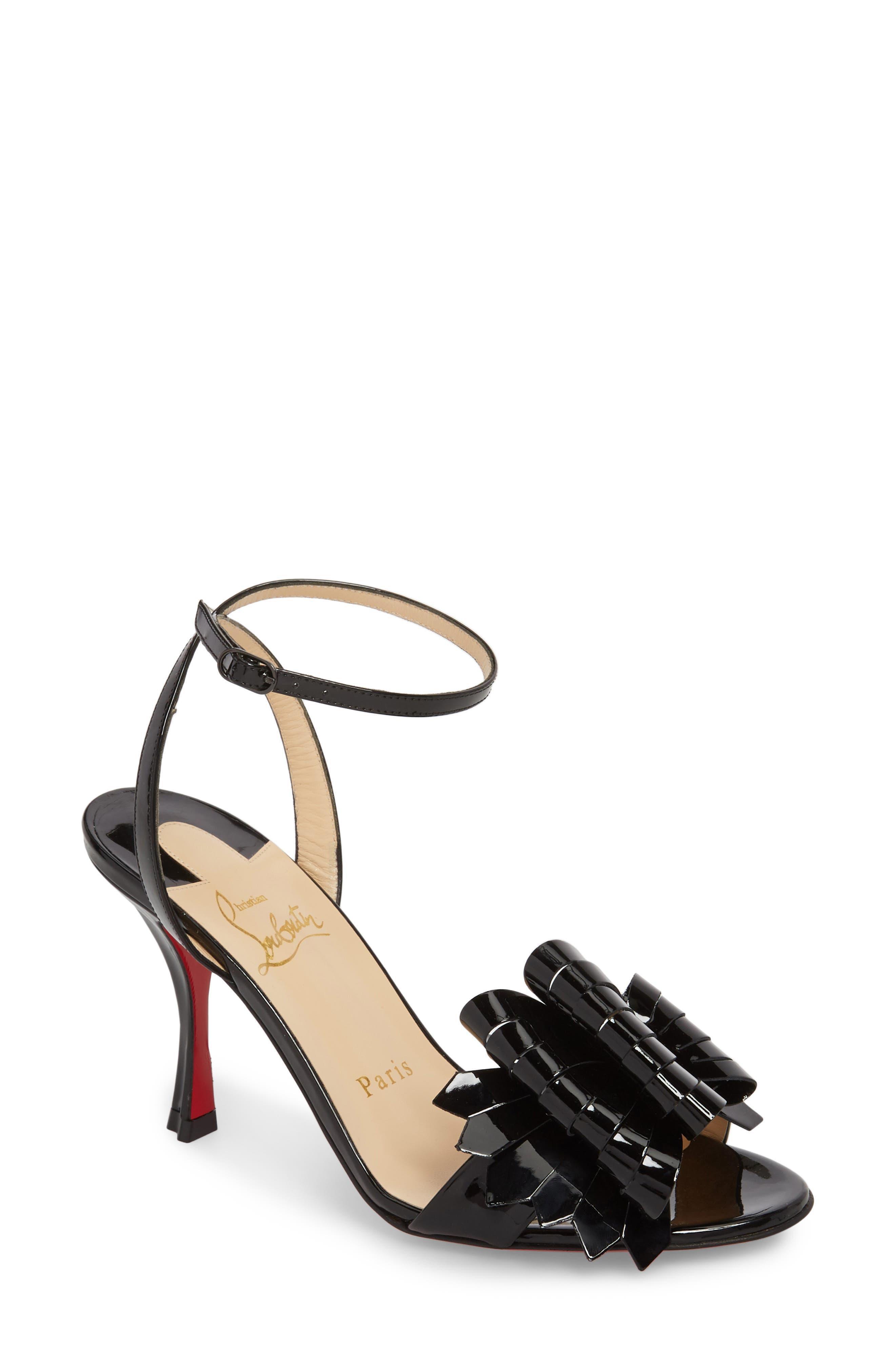Christian Louboutin Miss Valois Bow Ankle Strap Sandal (Women)