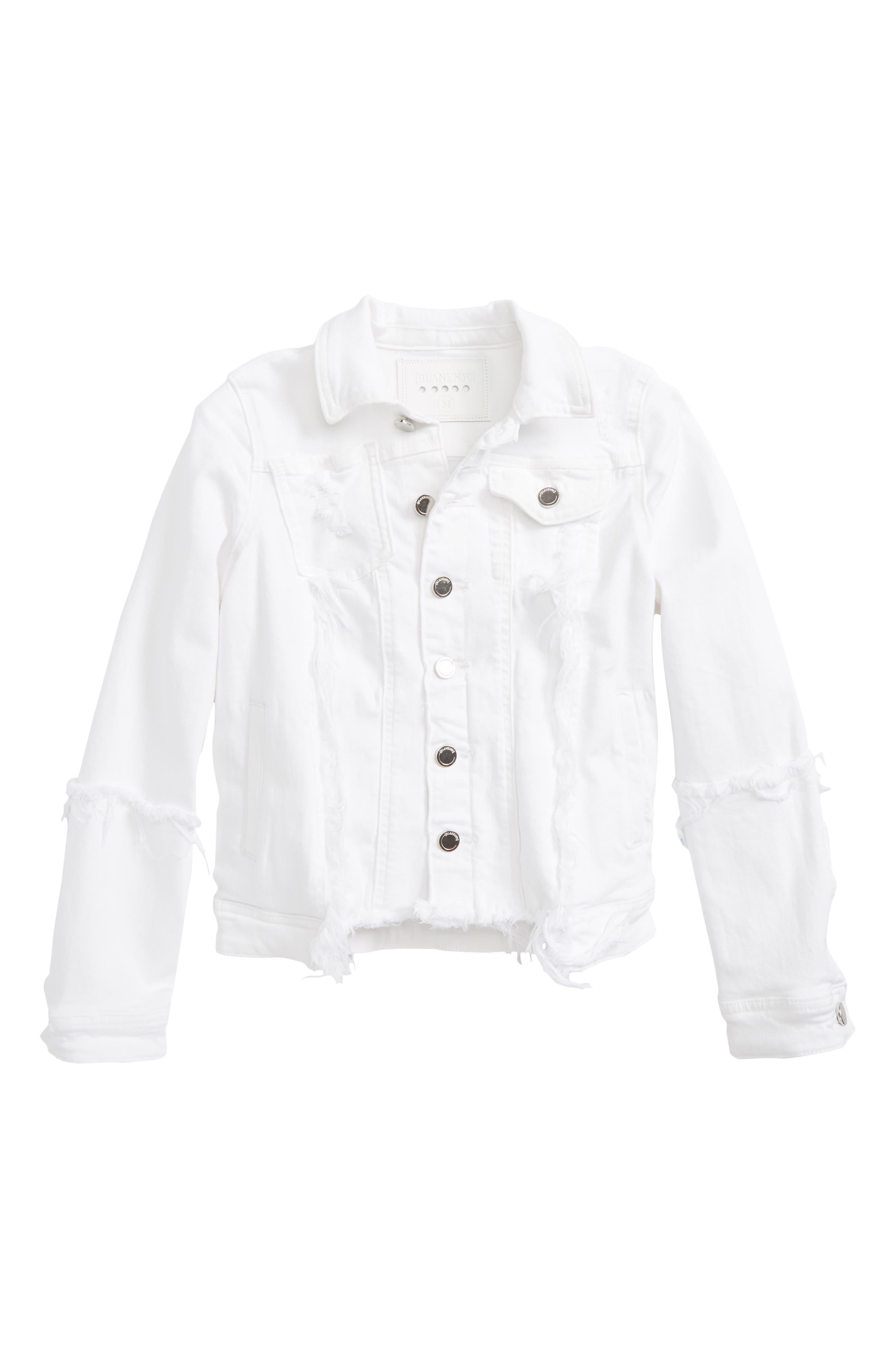 Distressed Denim Jacket,                         Main,                         color, Heartbreaker