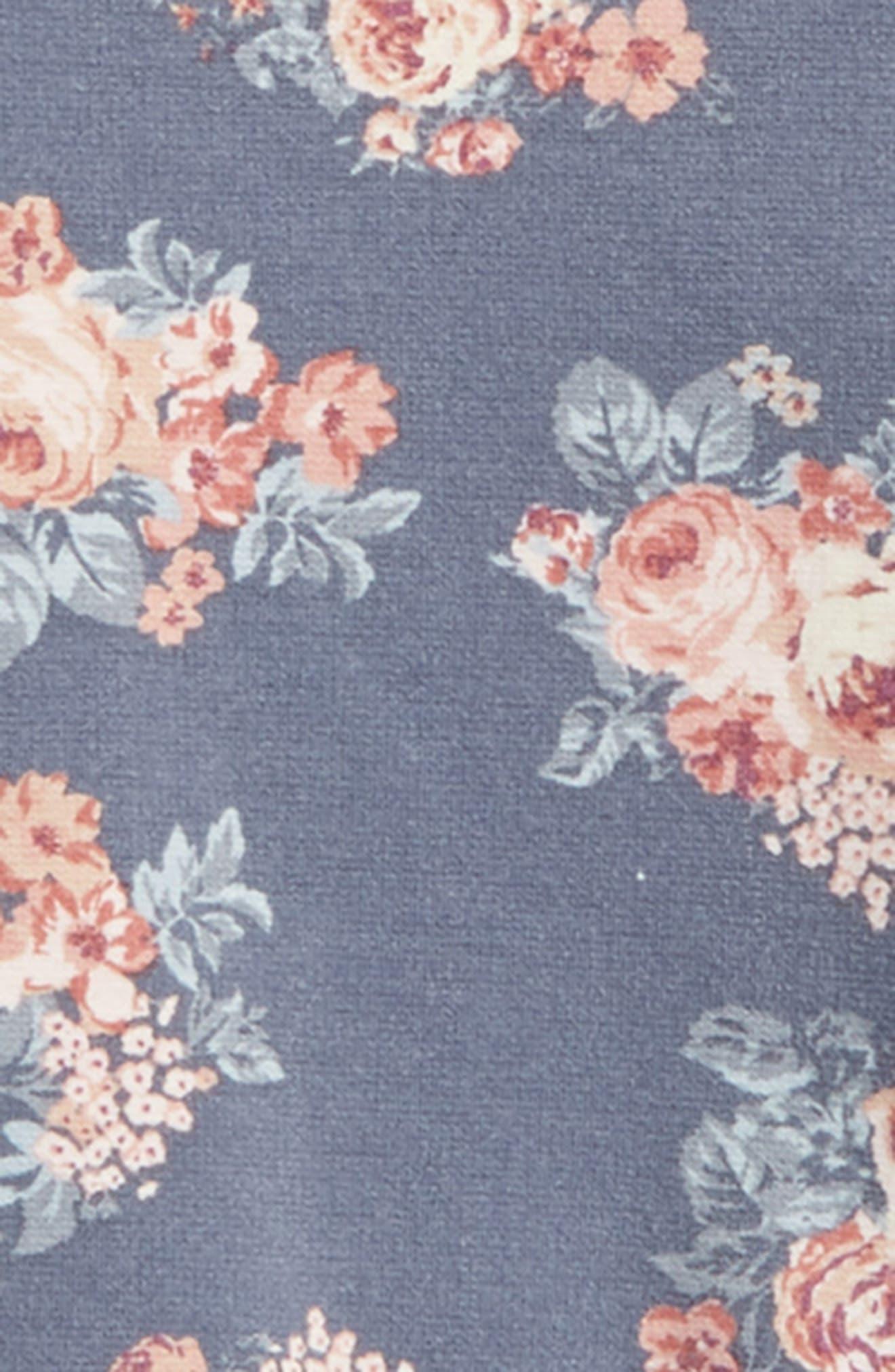 Liva Floral Sweatshirt,                             Alternate thumbnail 2, color,                             Grisaille