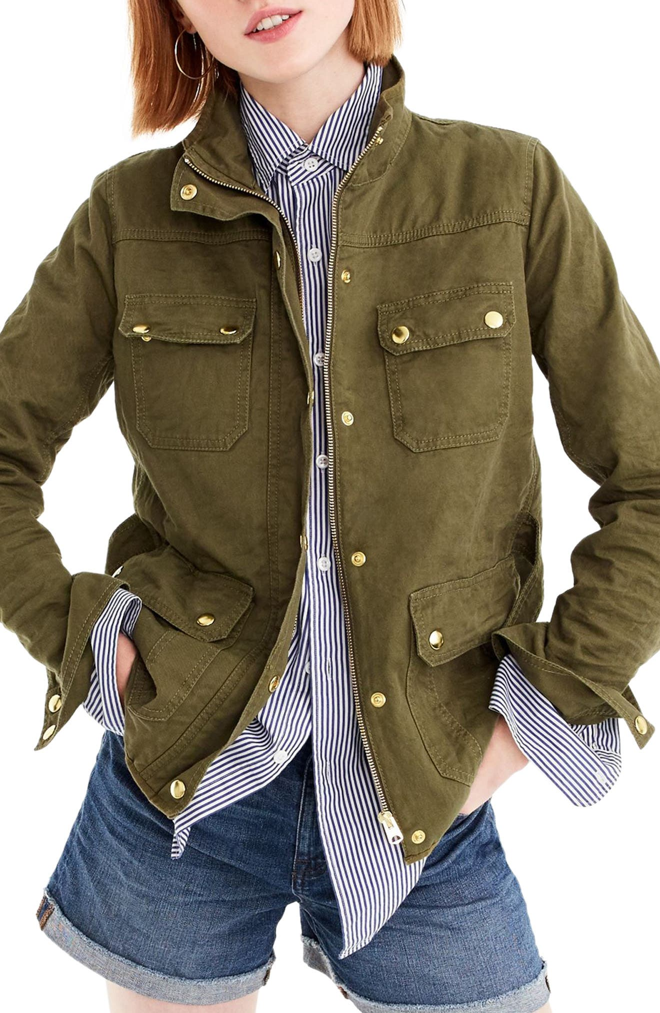 Uncoated Downtown Field Jacket,                         Main,                         color, Tuscan Olive