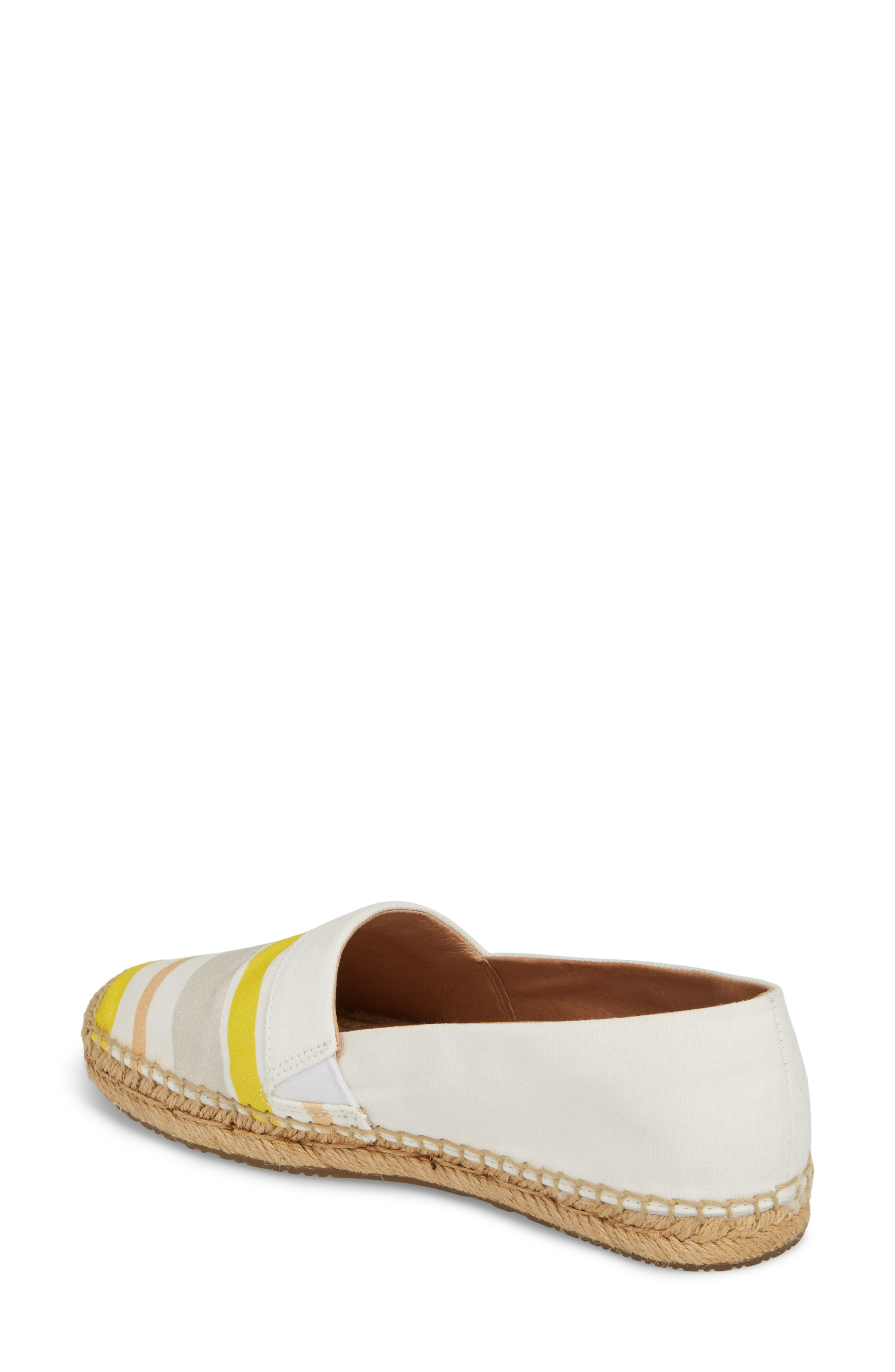 Reneda Stripe Espadrille Flat,                             Alternate thumbnail 2, color,                             White