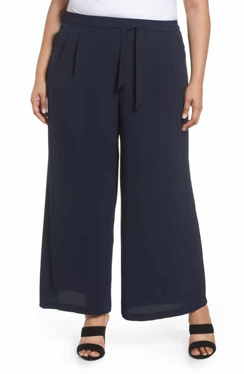 Evans Pebble Wide Leg Pants (Plus Size)