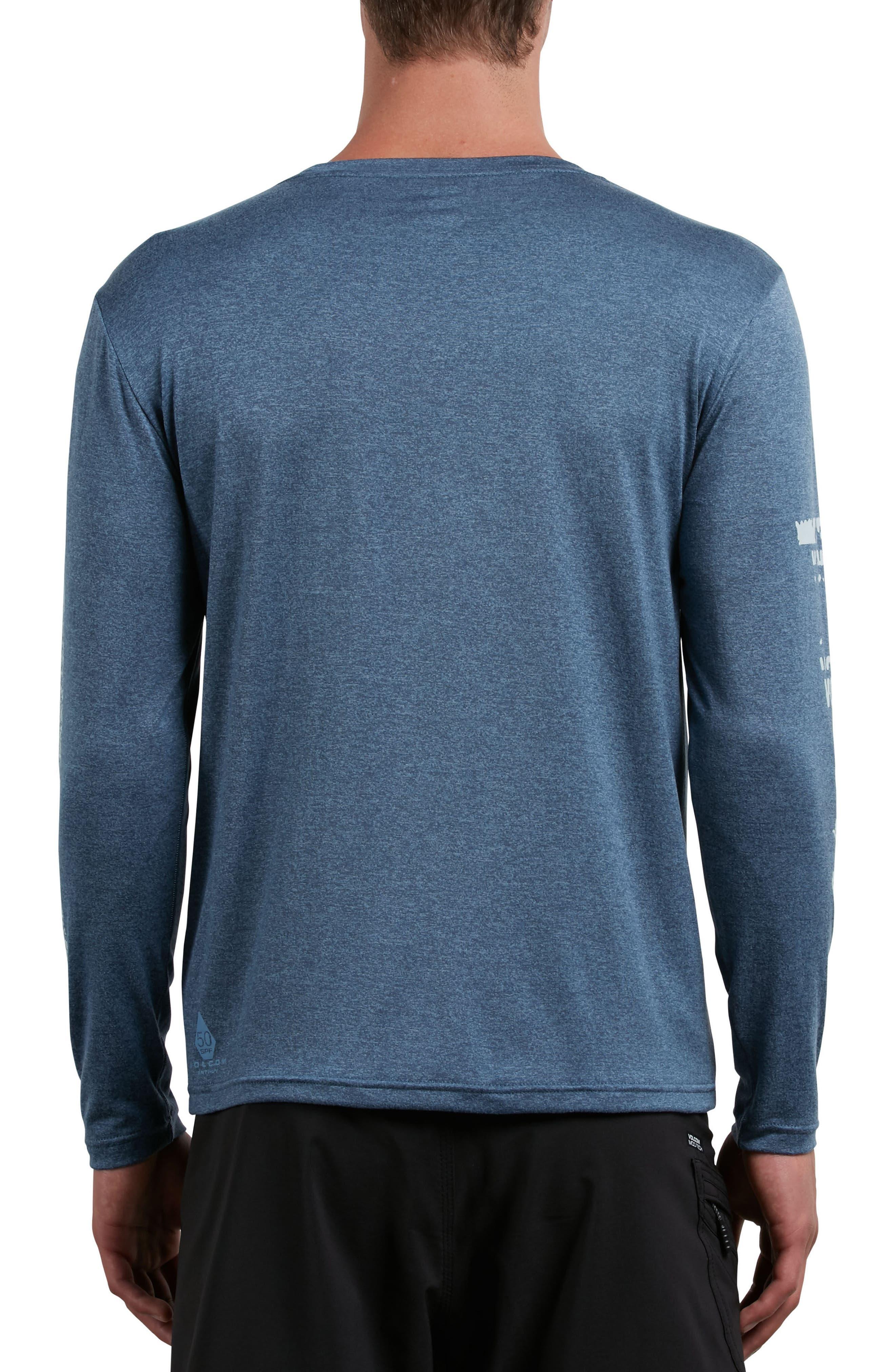 Lido Pixel Graphic Long Sleeve T-Shirt,                             Alternate thumbnail 2, color,                             Deep Blue