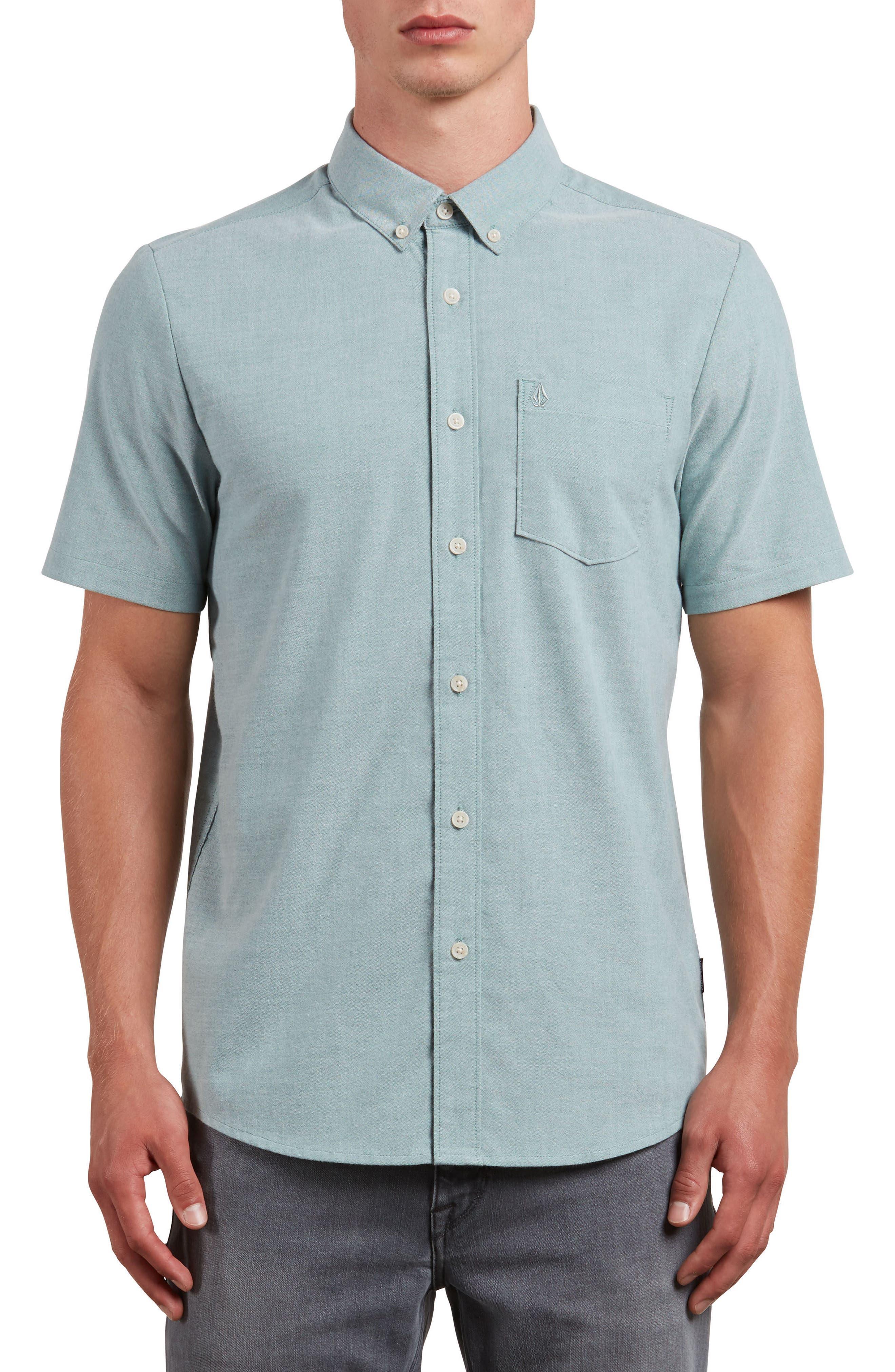 Everett Oxford Shirt,                         Main,                         color, Ranger Green