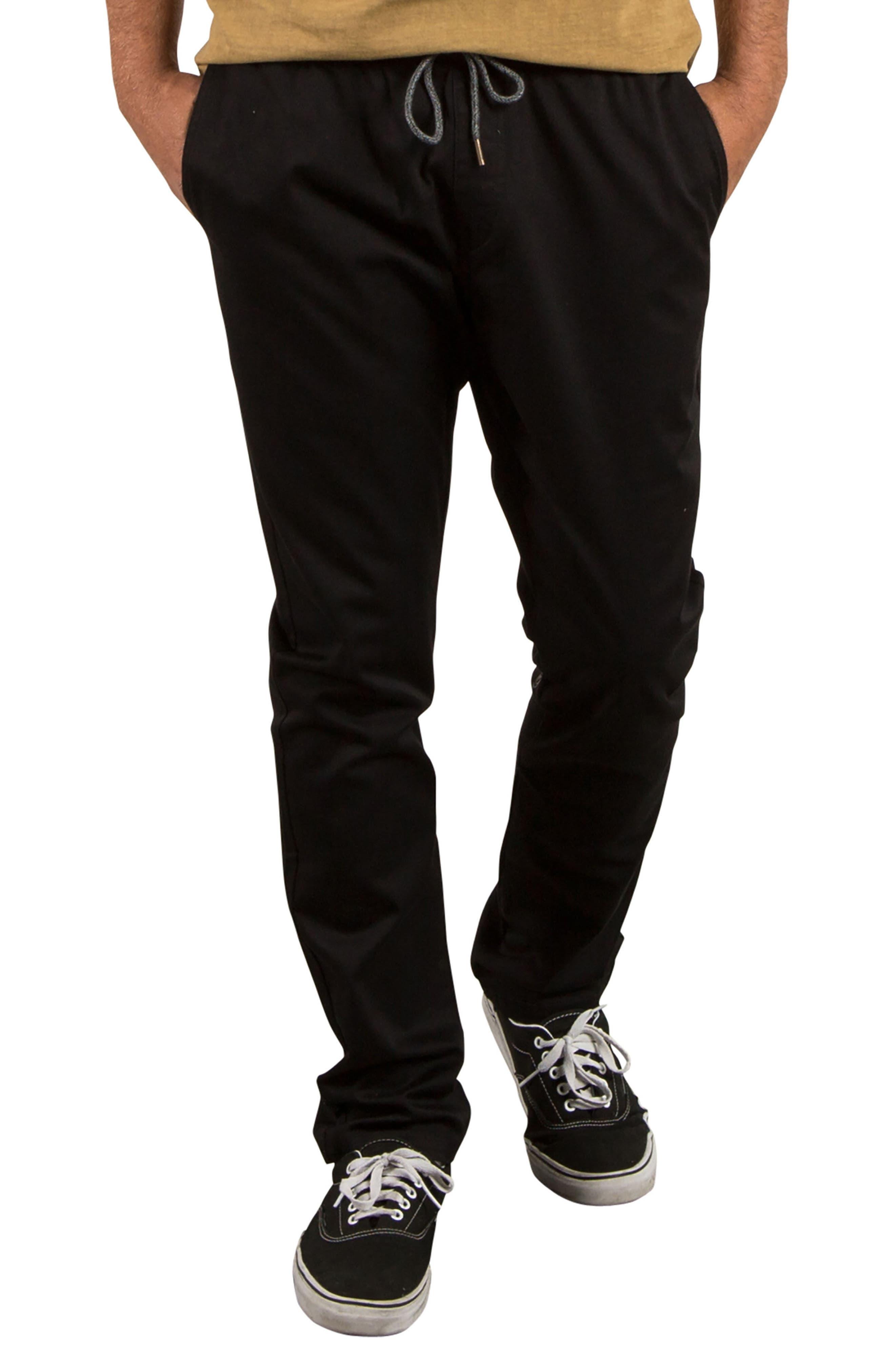 Comfort Chino Pants,                         Main,                         color, Black