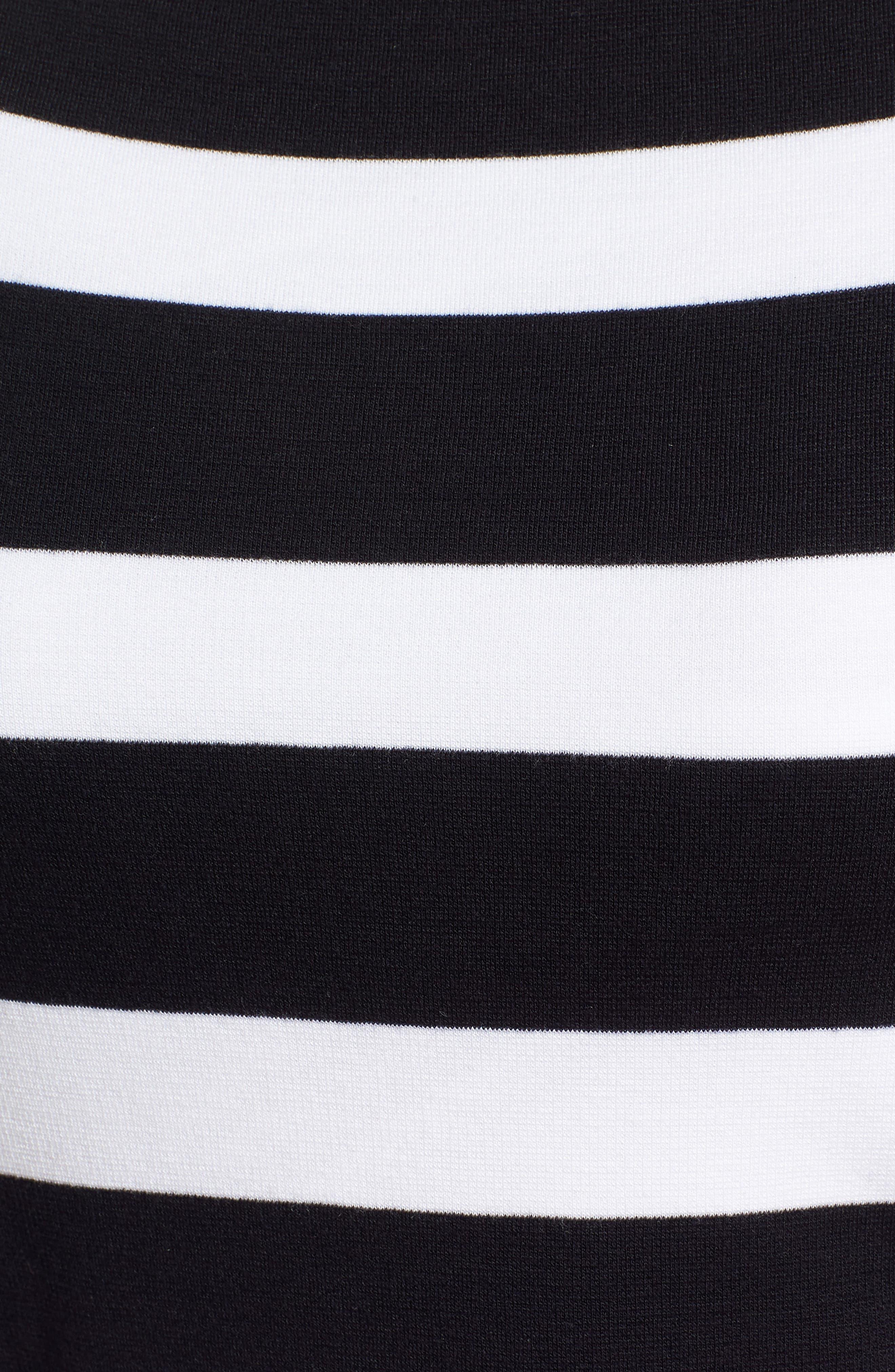 Elsara Stripe Sheath Dress,                             Alternate thumbnail 6, color,                             Navy Fantasy