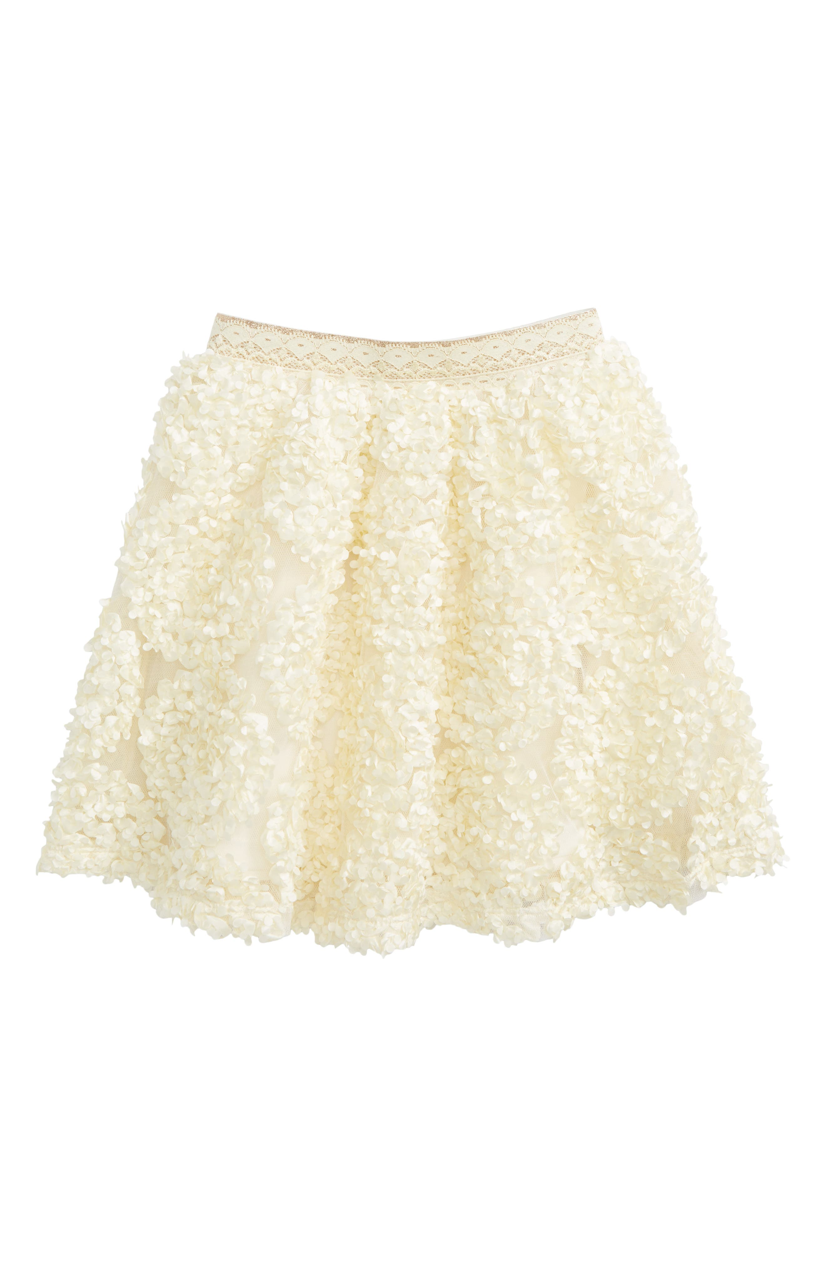 Ruffle Skirt,                         Main,                         color, Cream