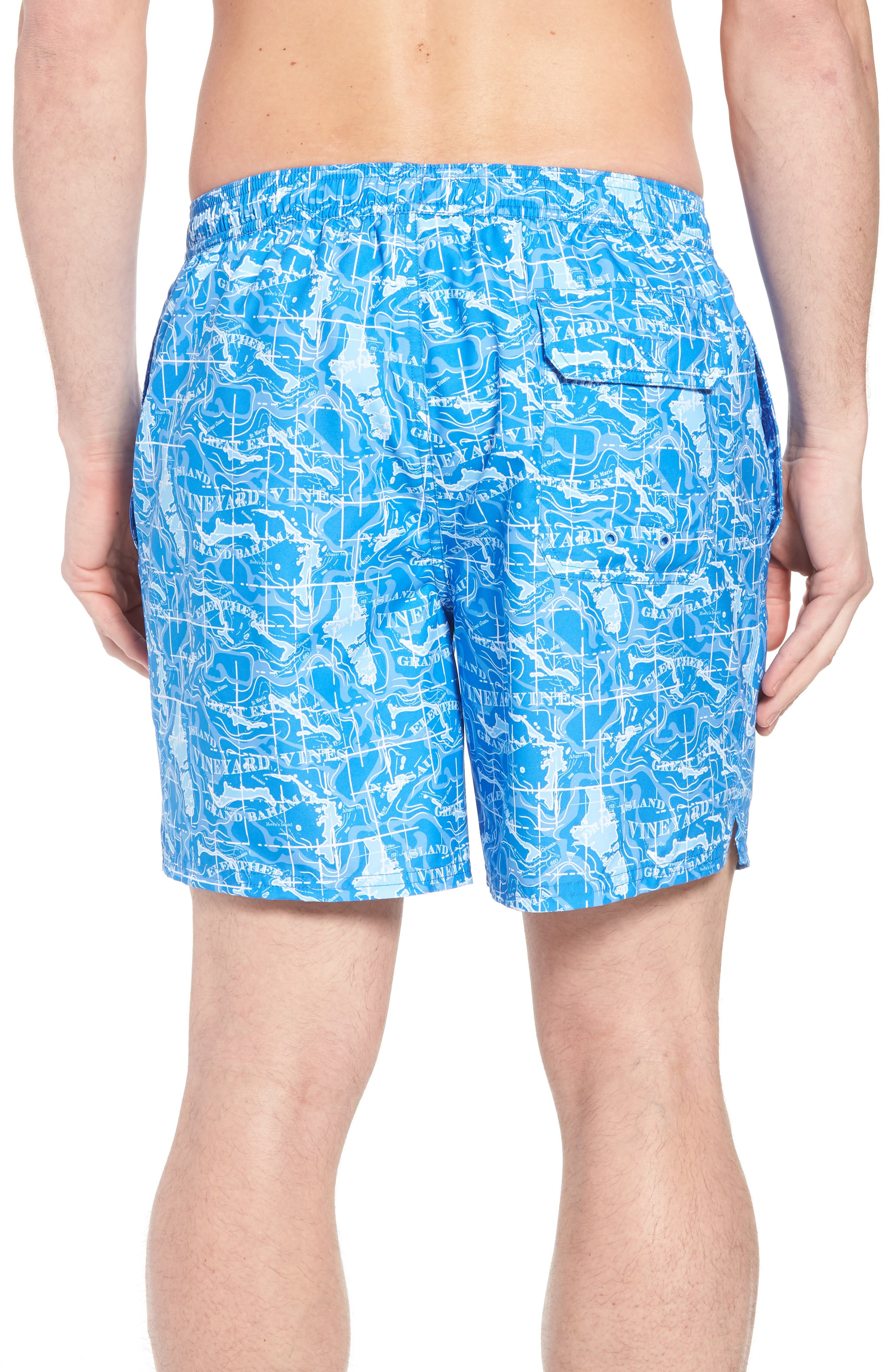 Chappy Bahama Map Swim Trunks,                             Alternate thumbnail 2, color,                             Hull Blue