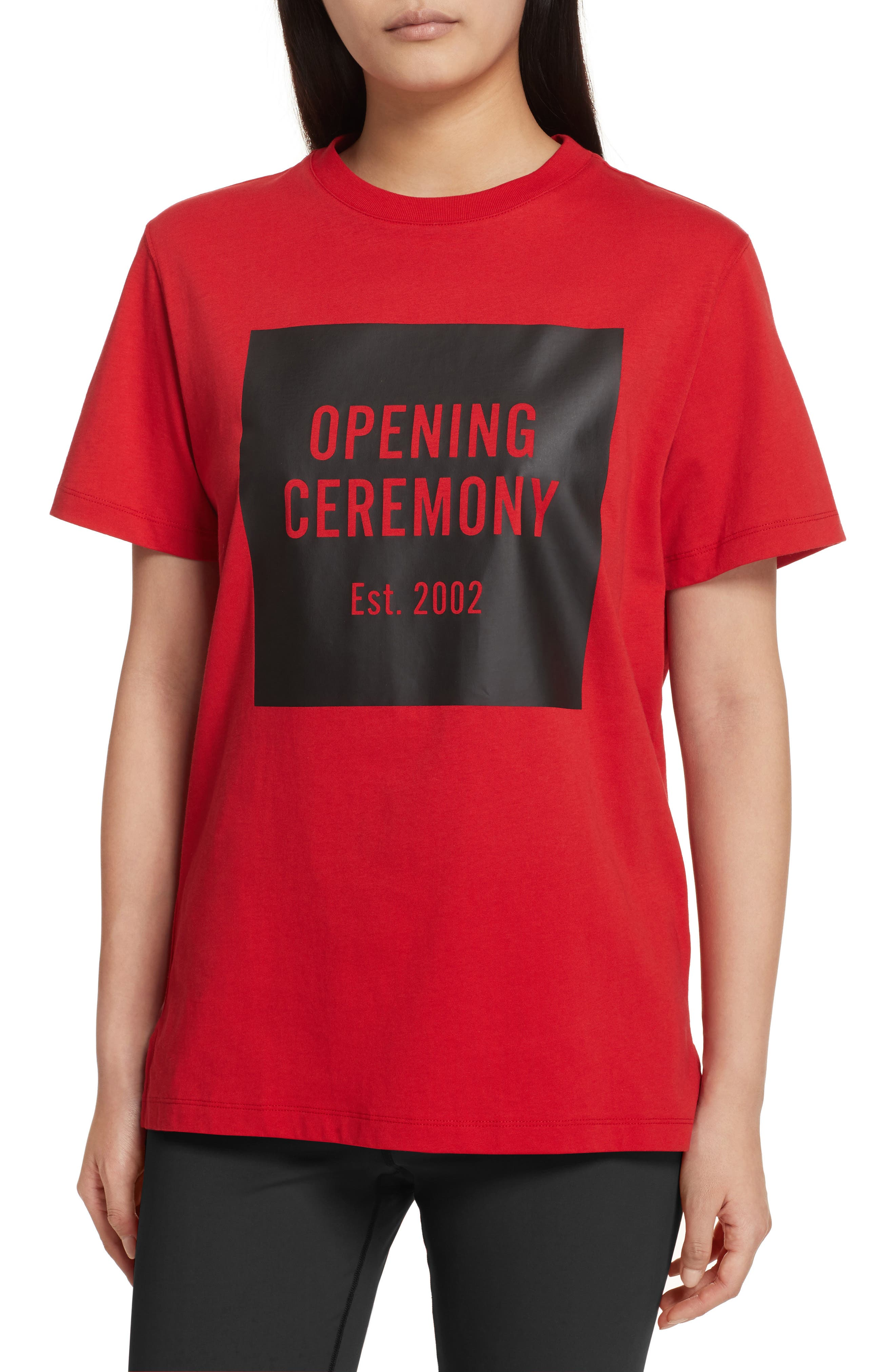 Logo Tee,                         Main,                         color, Torch Red