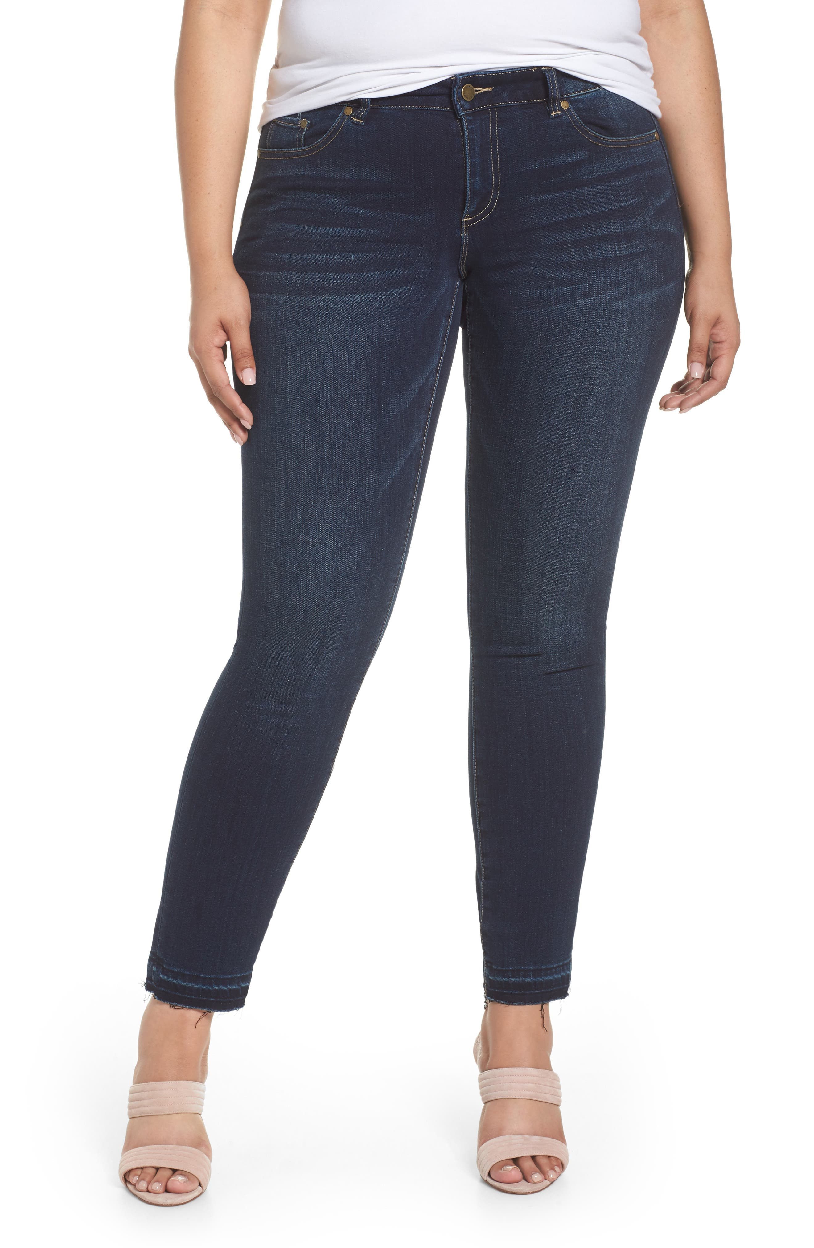 Vince Camuto Release Hem Ankle Jeans (Plus Size)