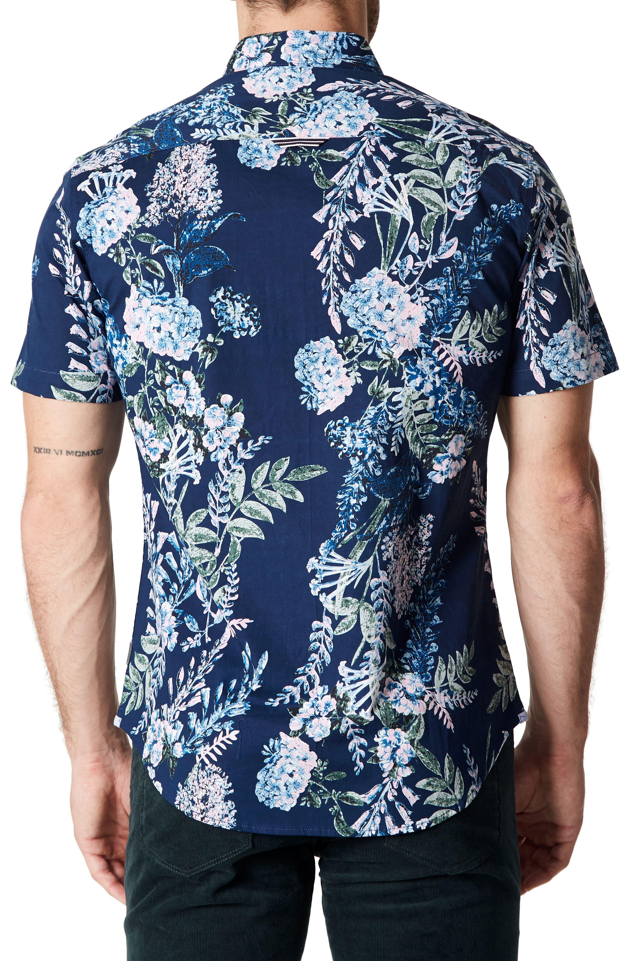 Conversation Peace Floral Sport Shirt,                             Alternate thumbnail 2, color,                             Mint