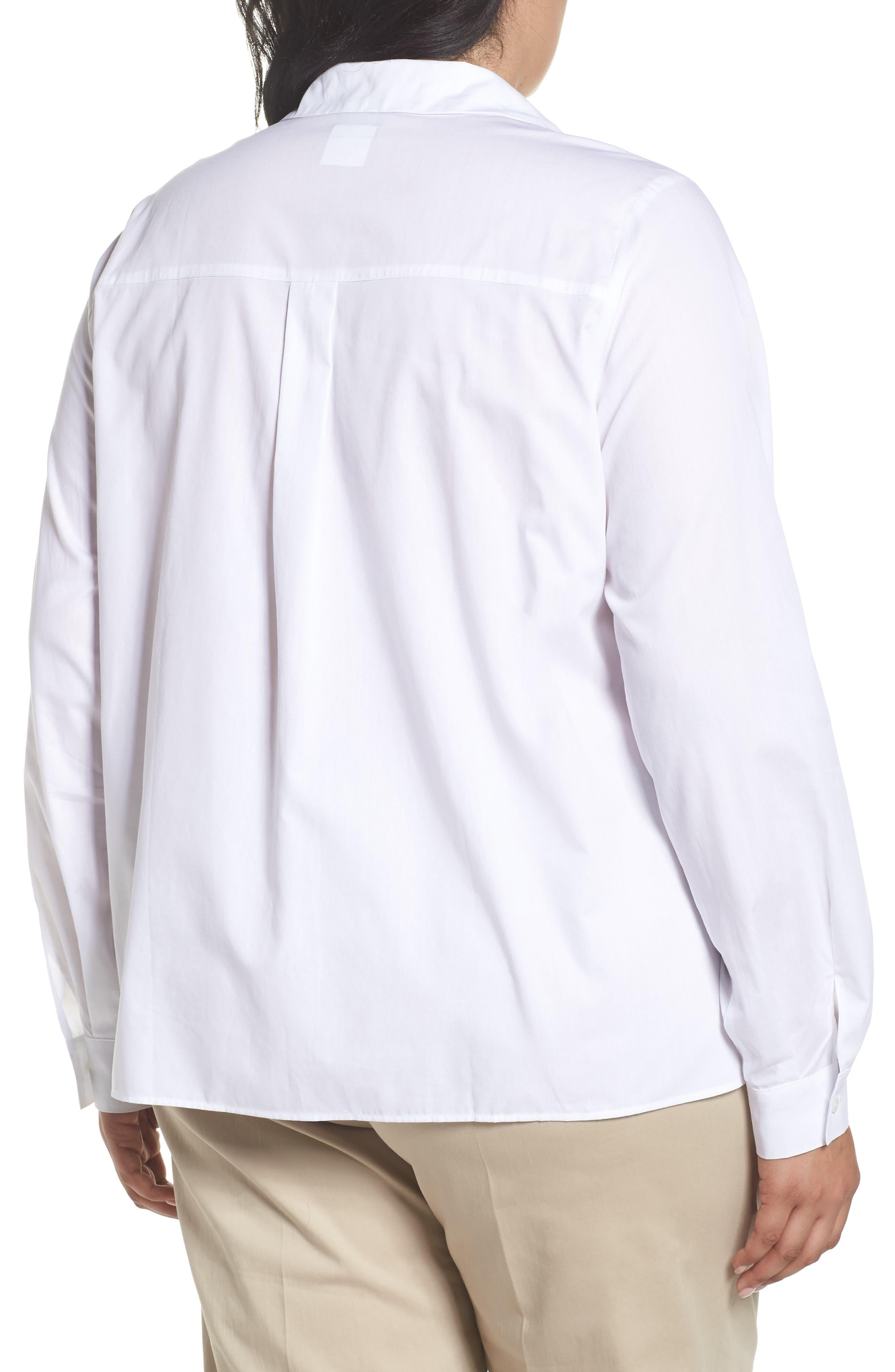 Button Front Shirt,                             Alternate thumbnail 2, color,                             White