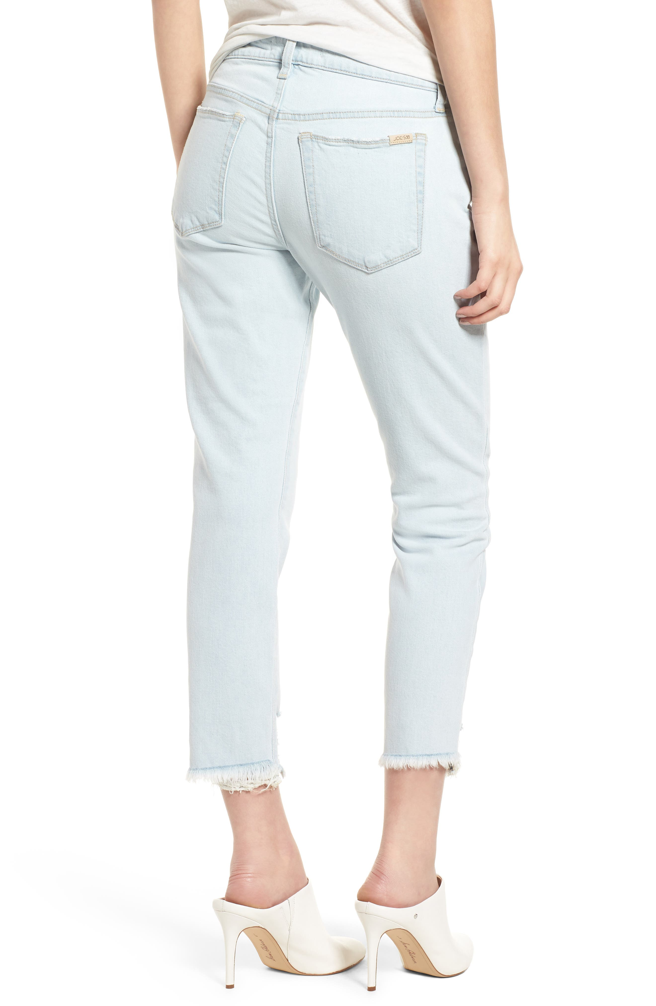 Smith Crop Boyfriend Jeans,                             Alternate thumbnail 3, color,                             Liya