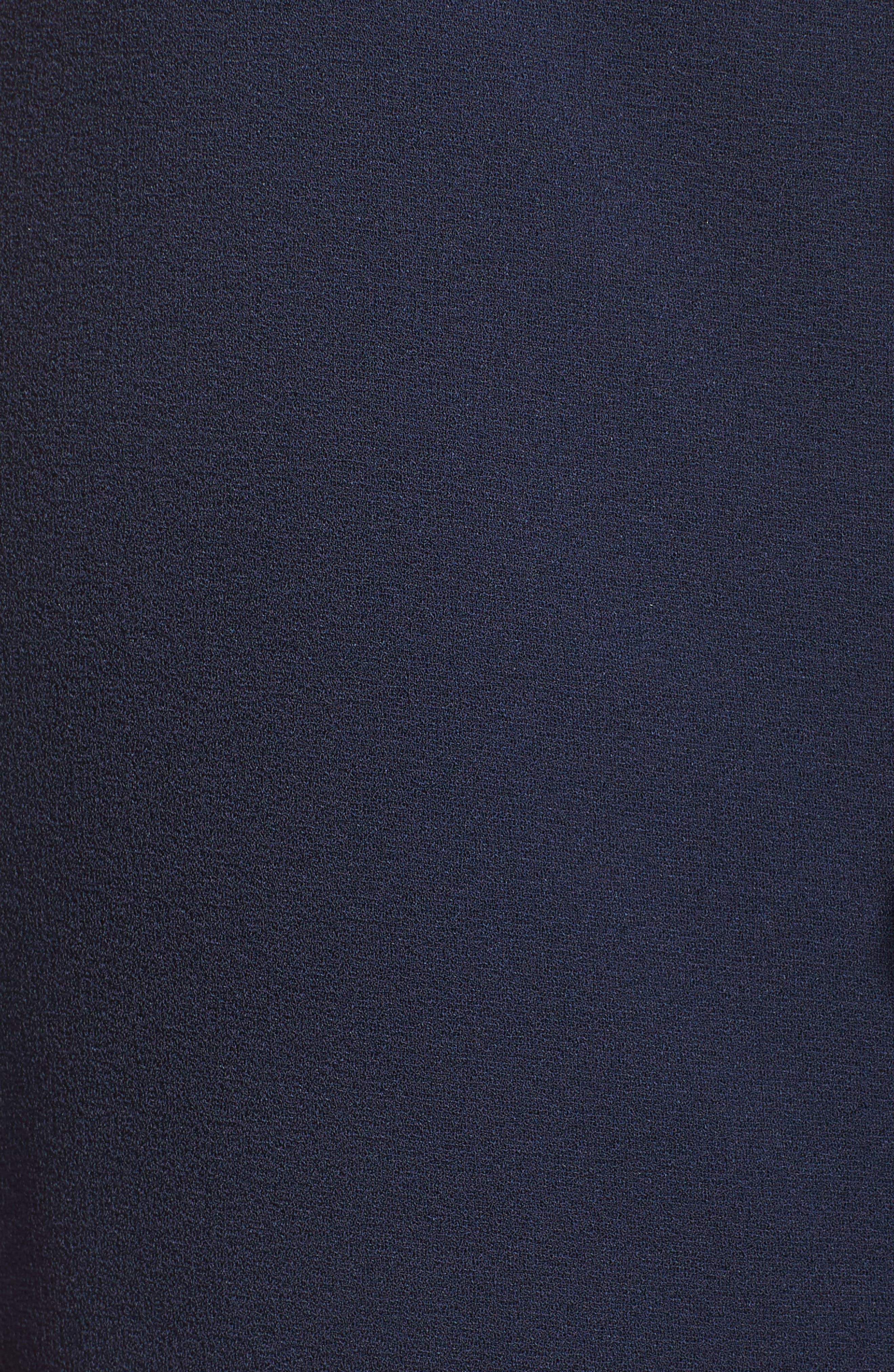 Sleeveless Crepe Ruffle Dress,                             Alternate thumbnail 6, color,                             Navy